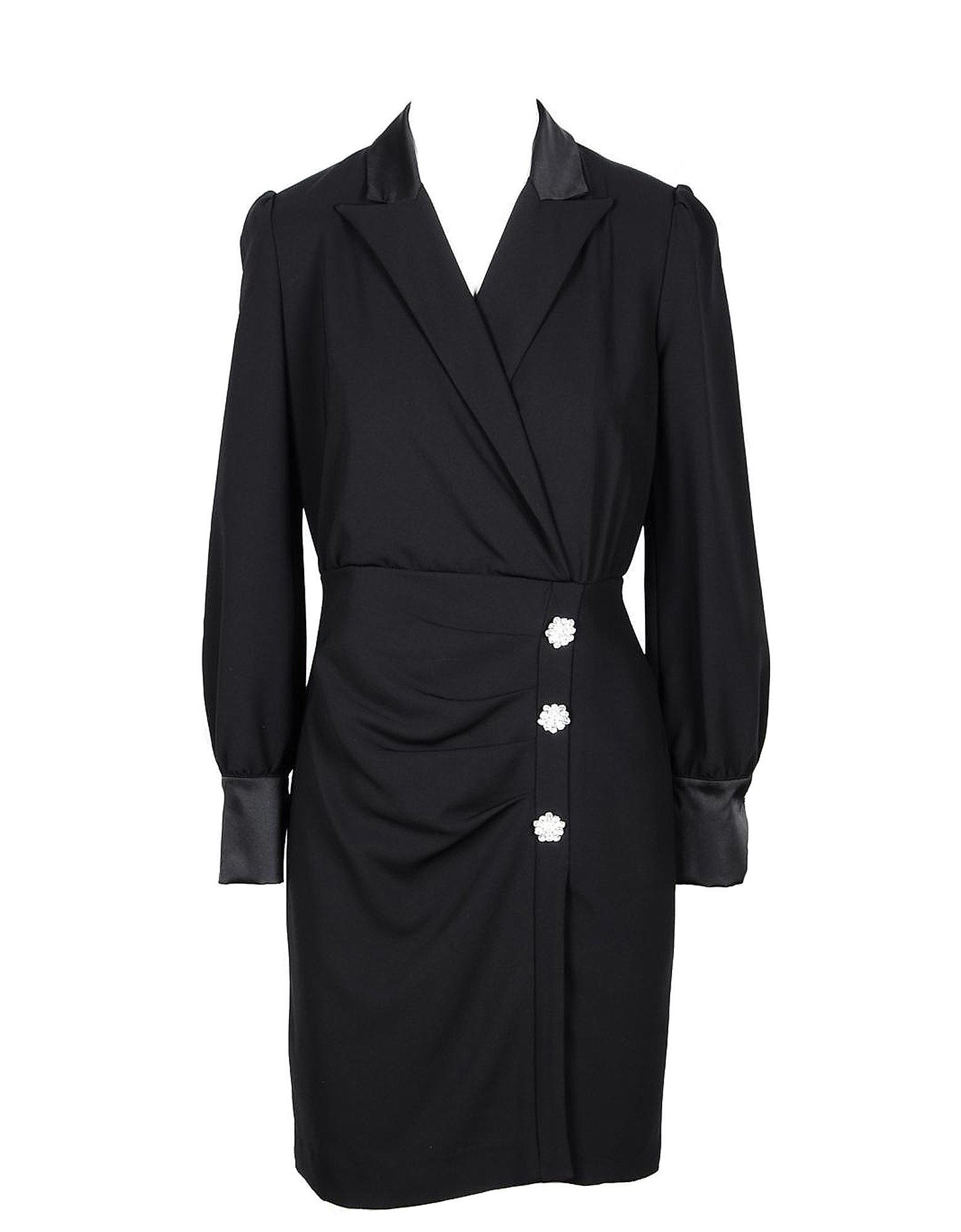 Annarita N Designer Dresses & Jumpsuits, Black Women's Wrap Dress