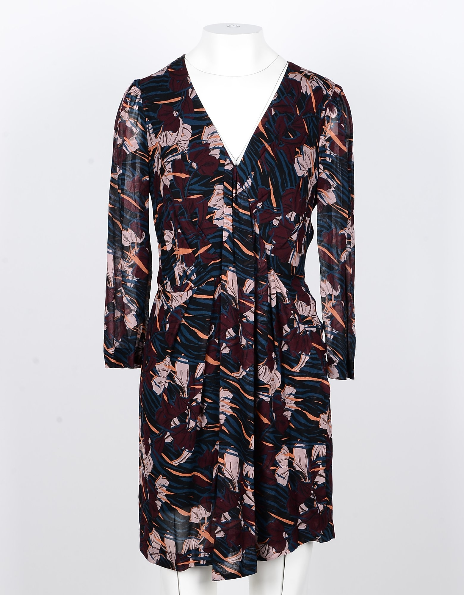 Annarita N Designer Dresses & Jumpsuits, Floral Printed Viscose Women's Dress