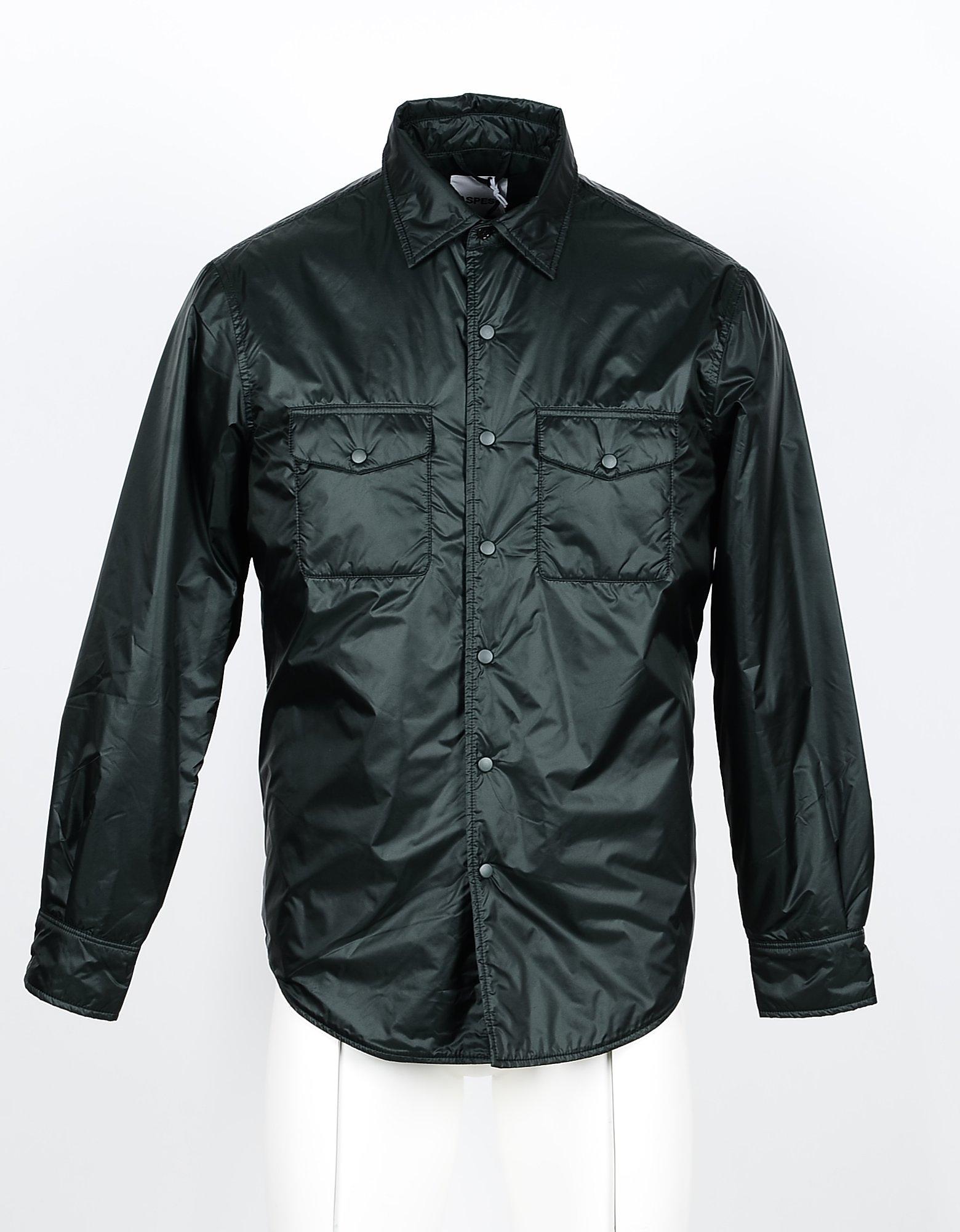 Aspesi Designer Shirts, Men's Green Shirt