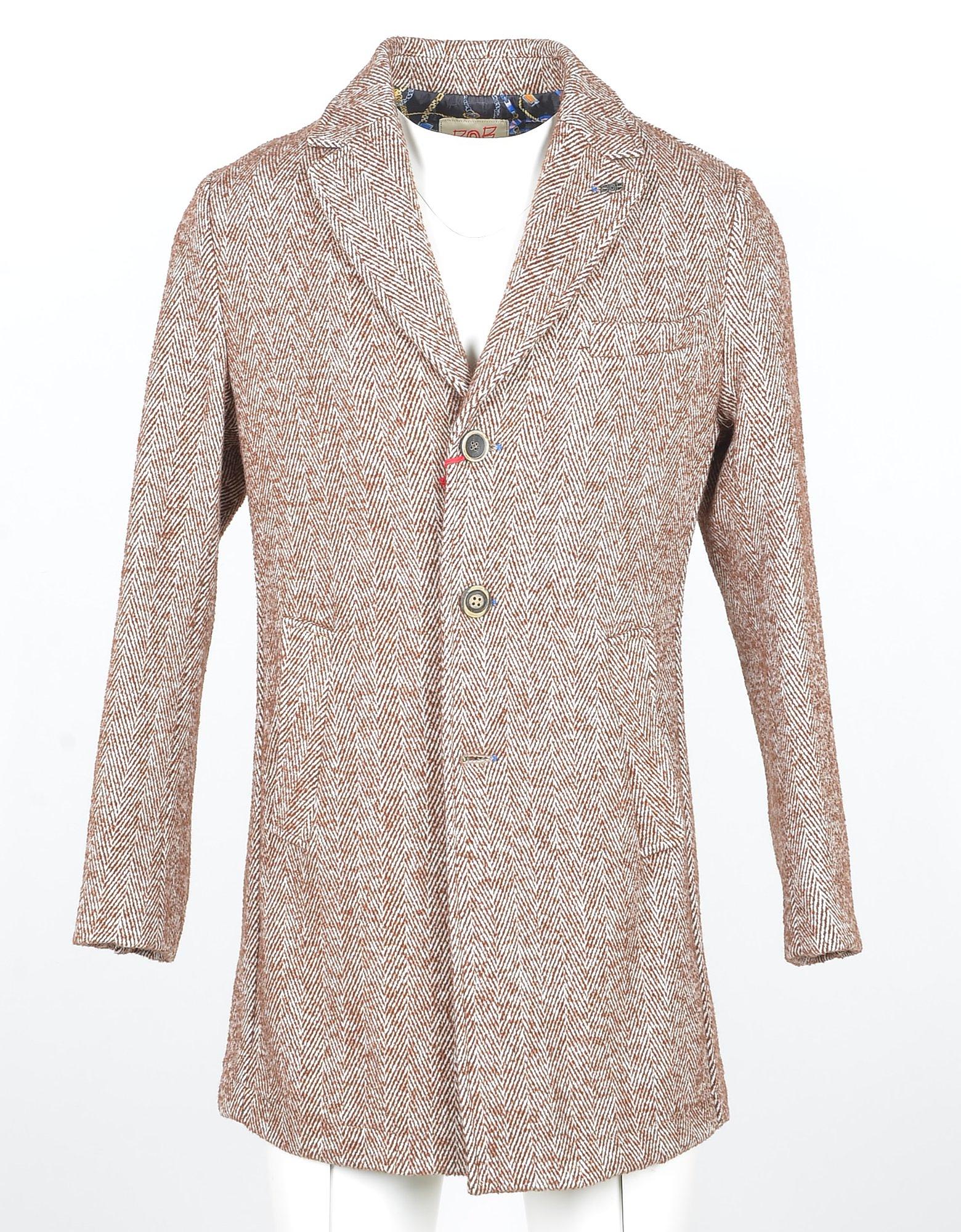 Bob Designer Coats & Jackets, Red Wool Blend Men's Coat