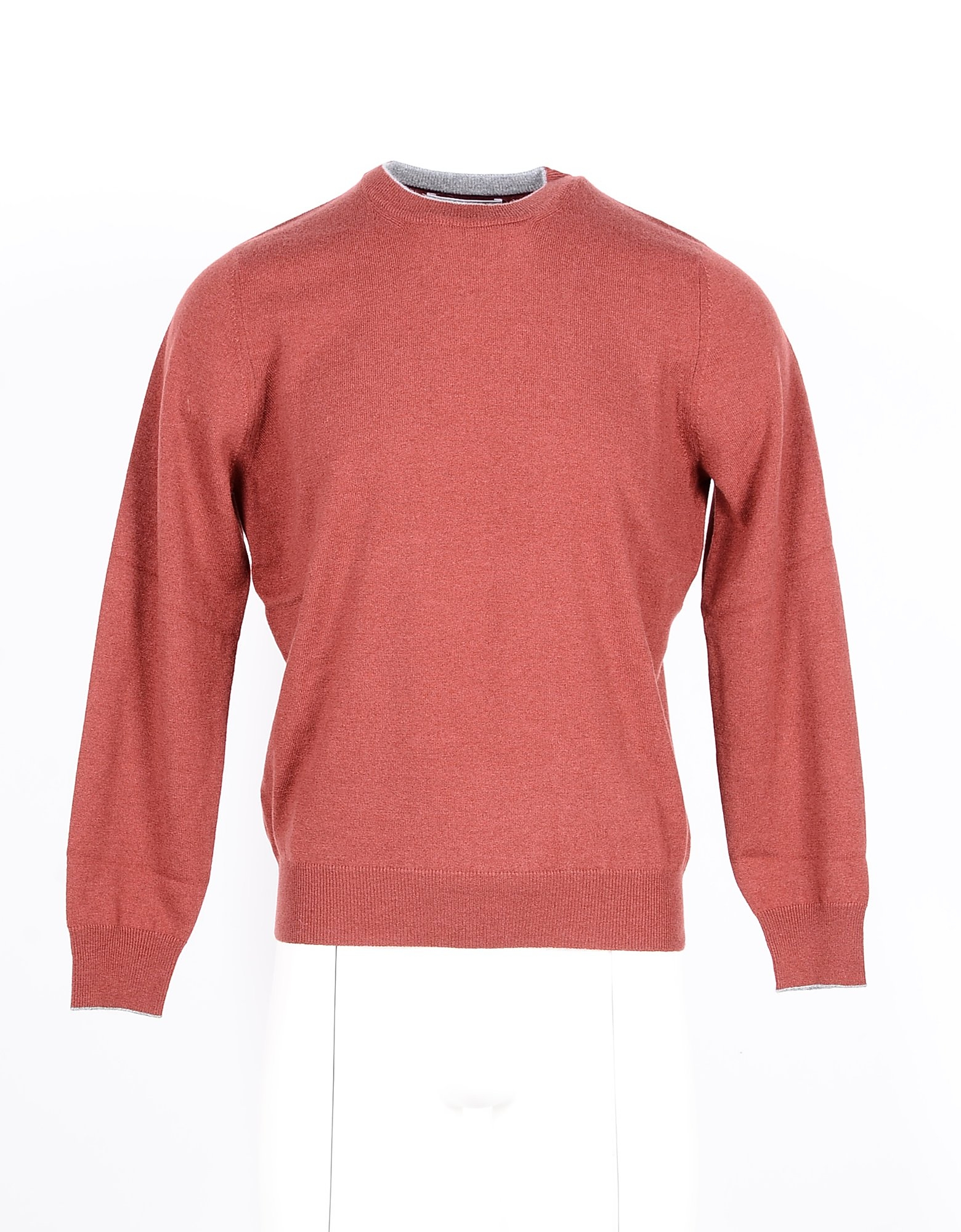 Brunello Cucinelli Designer Knitwear, Bordeaux Pure Cashmere Men's Sweater