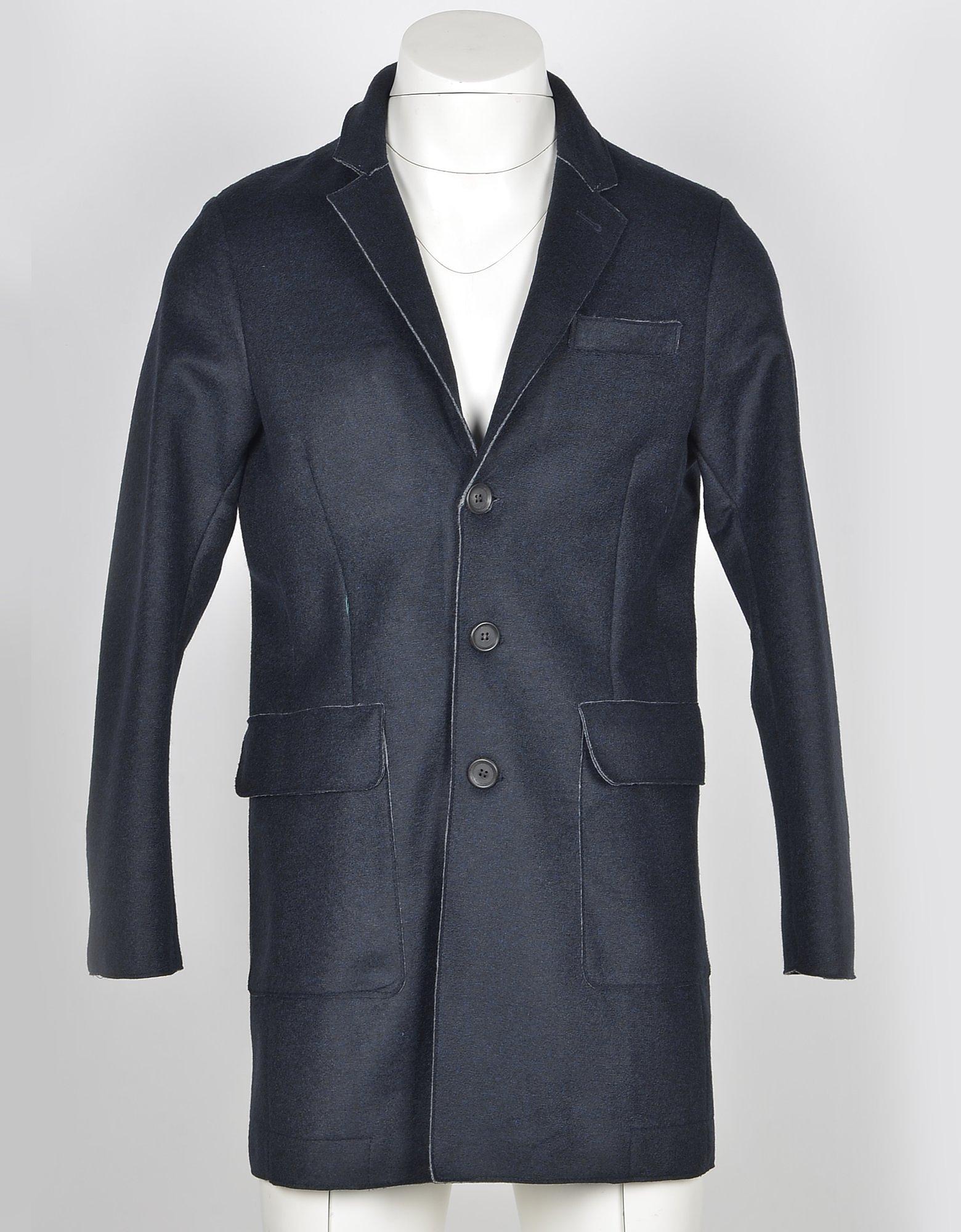 Fradi Designer Coats & Jackets, Men's Navy Blue Coat