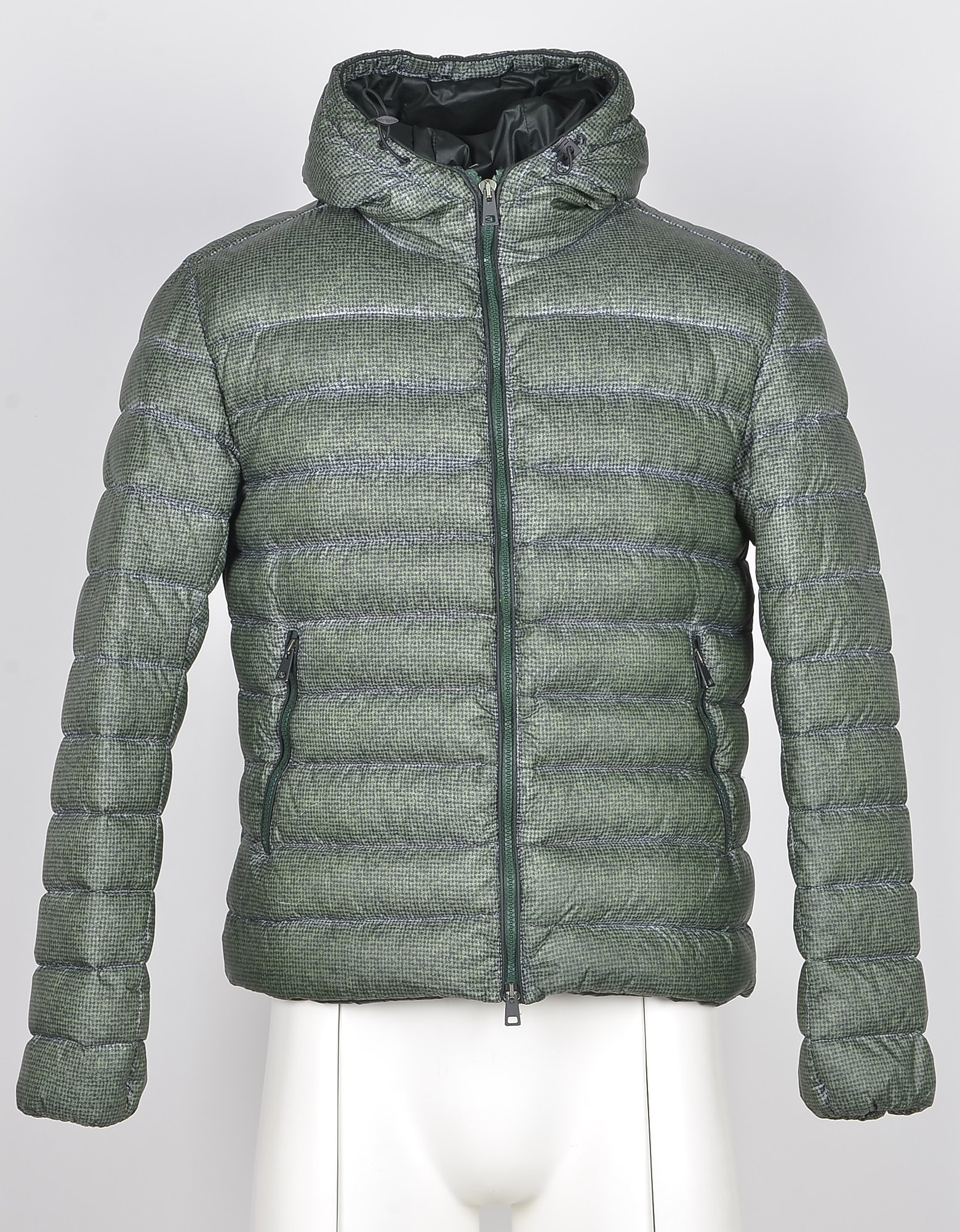 Fradi Designer Coats & Jackets, Men's Green Padded Jacket