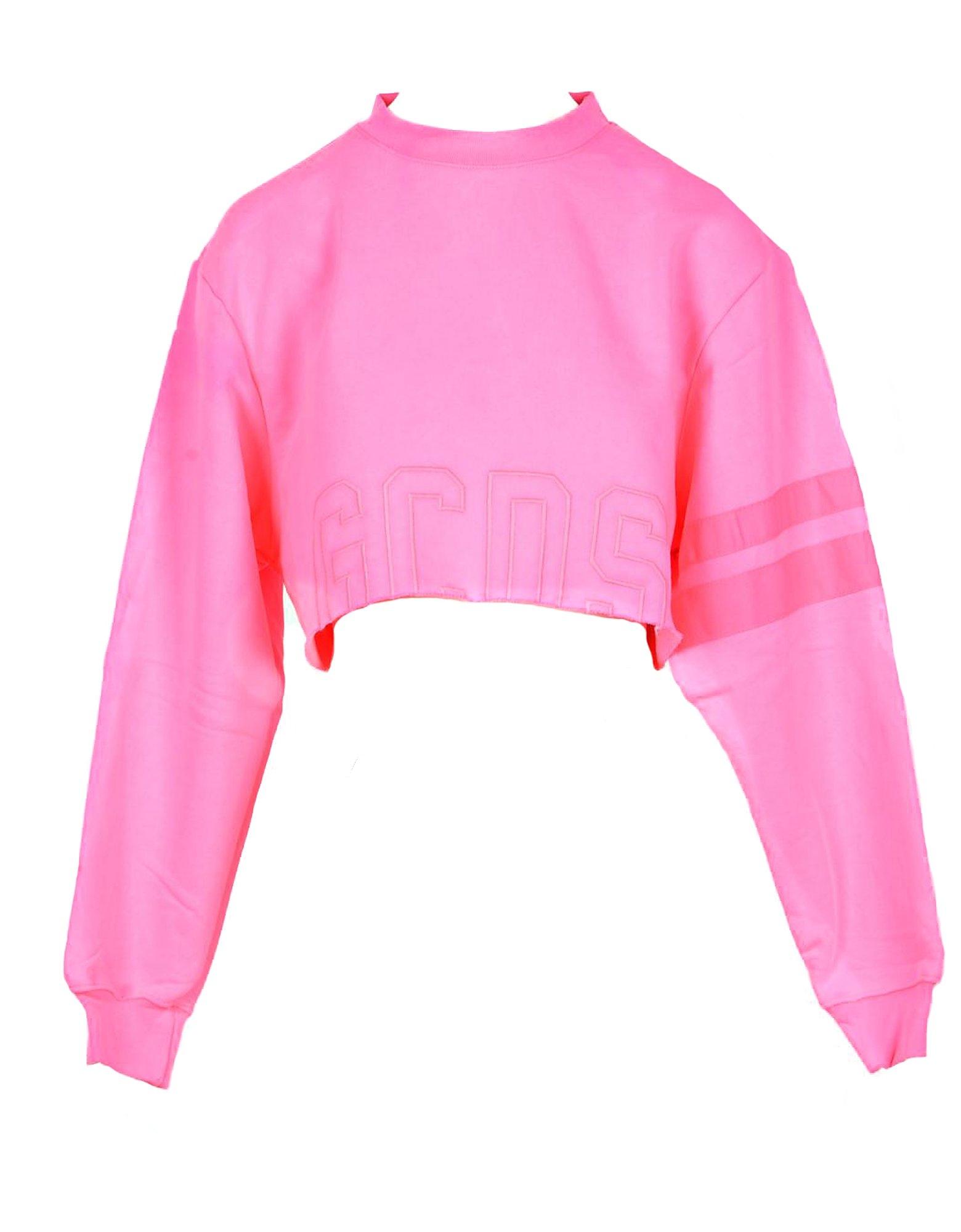 GCDS Designer Sweatshirts, Women's Shocking Pink Sweatshirt