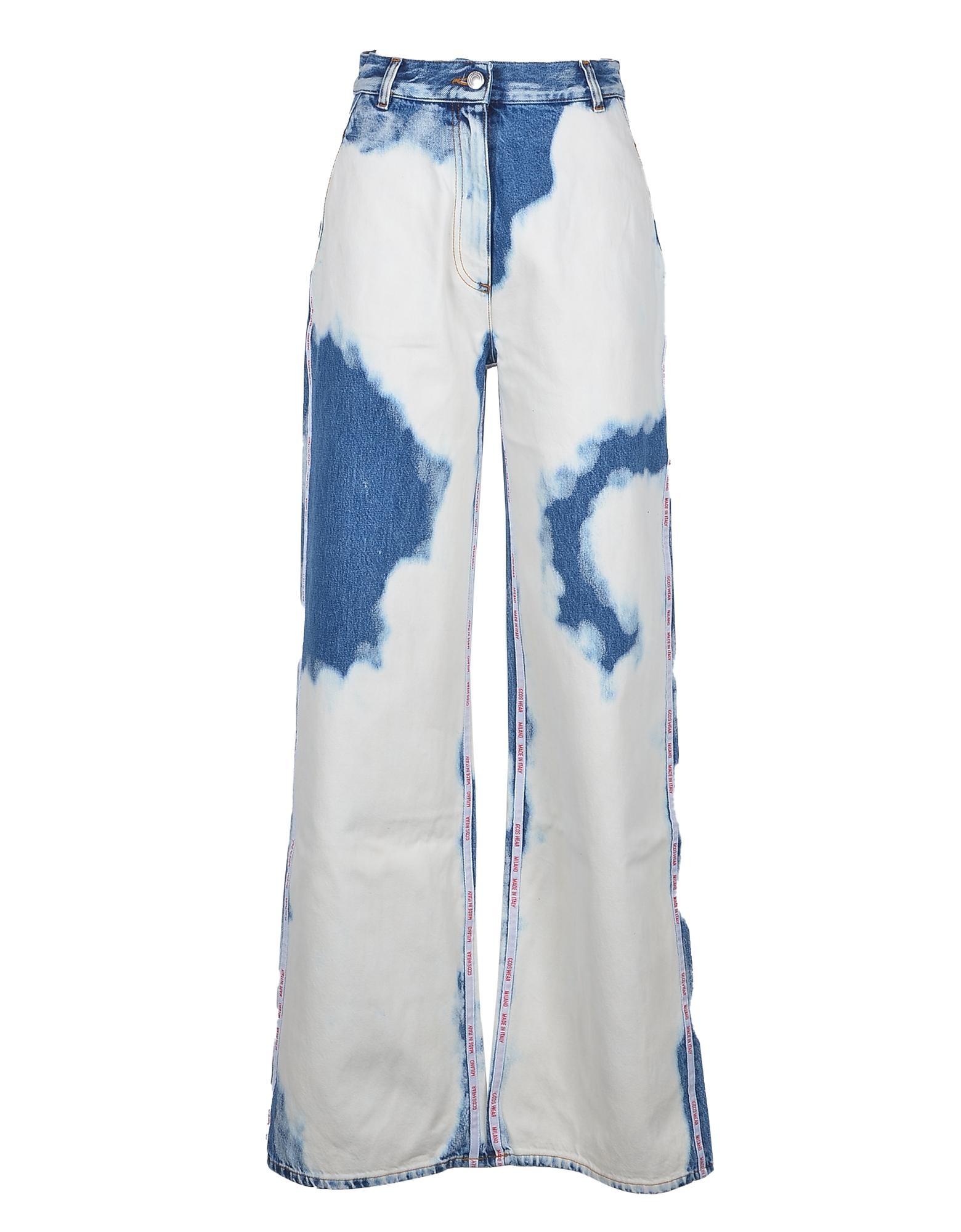 GCDS Designer Jeans, Women's White / Blue Jeans