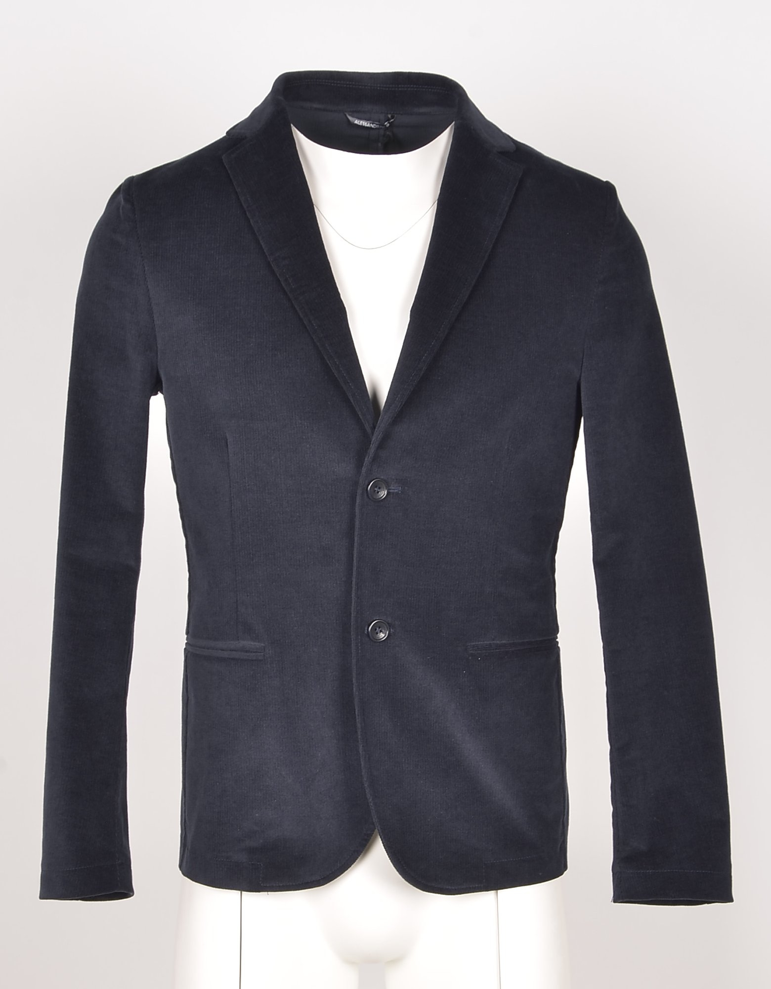 Daniele Alessandrini Designer Coats & Jackets, Men's Blue Blazer