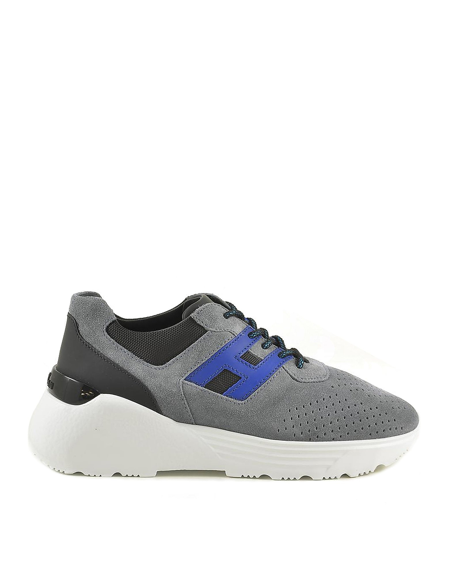 Hogan Designer Shoes, Men's Blue / Gray Sneakers