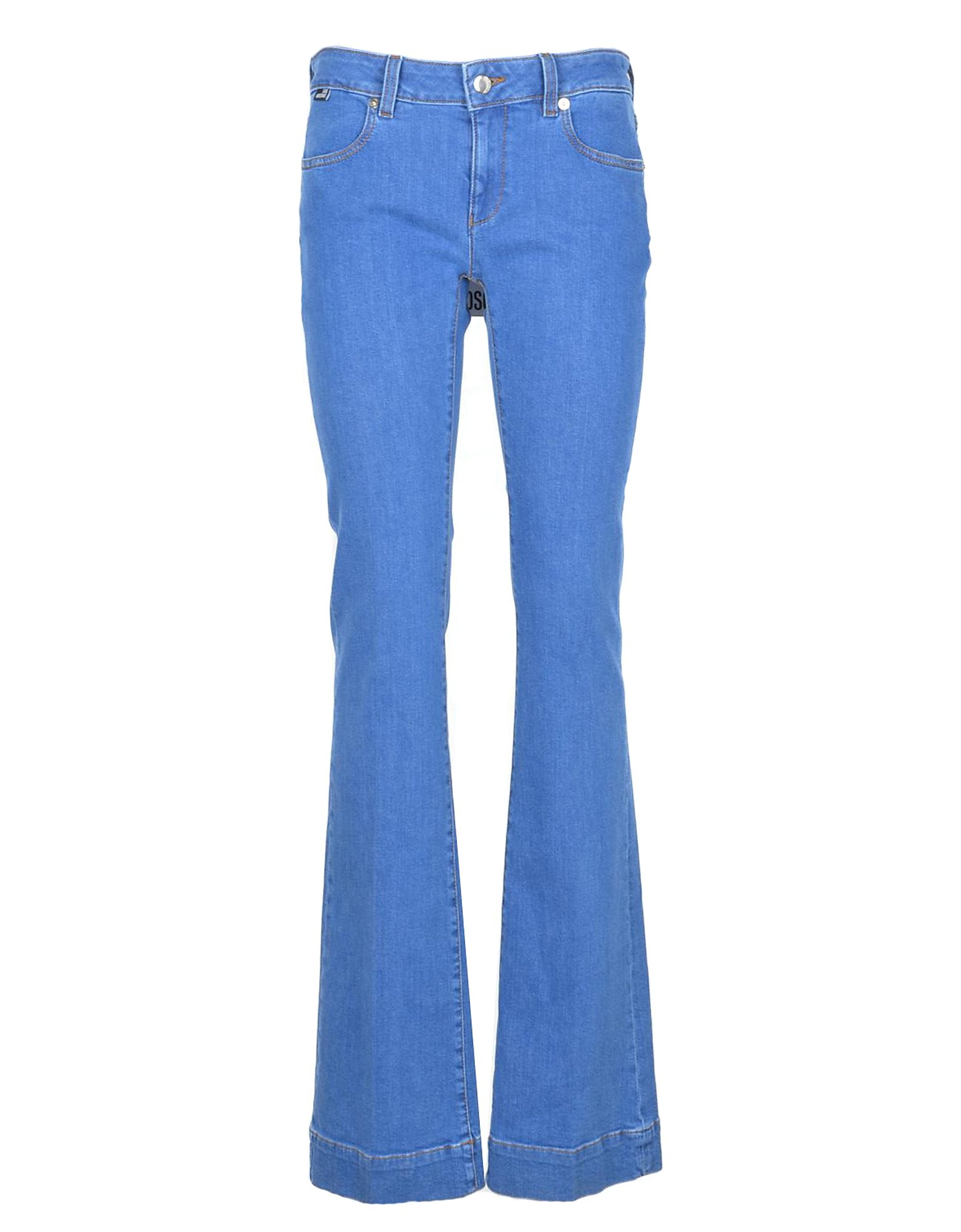 Love Moschino Designer Jeans, Women's Sky Blue Jeans