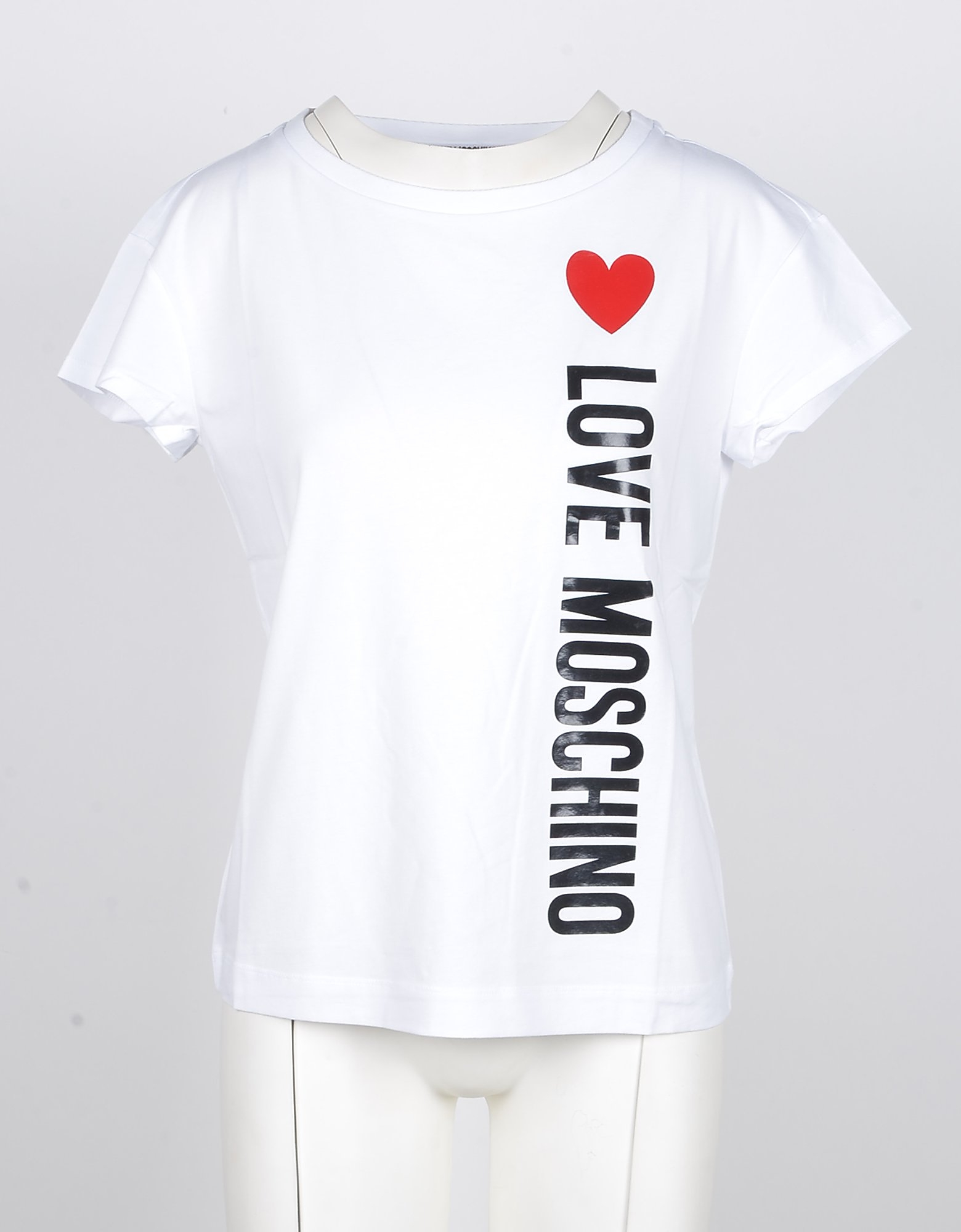 Love Moschino Designer T-Shirts & Tops, Women's White Tshirt