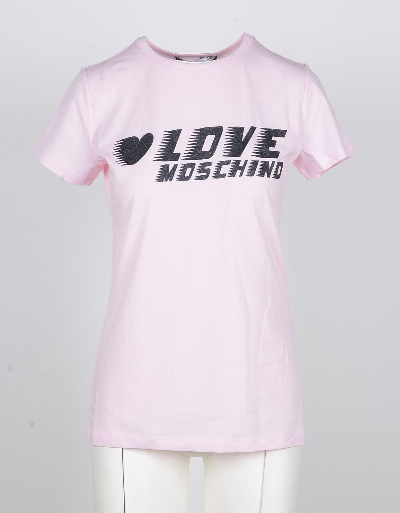 Love Moschino Designer T-Shirts & Tops, Women's Pink Tshirt