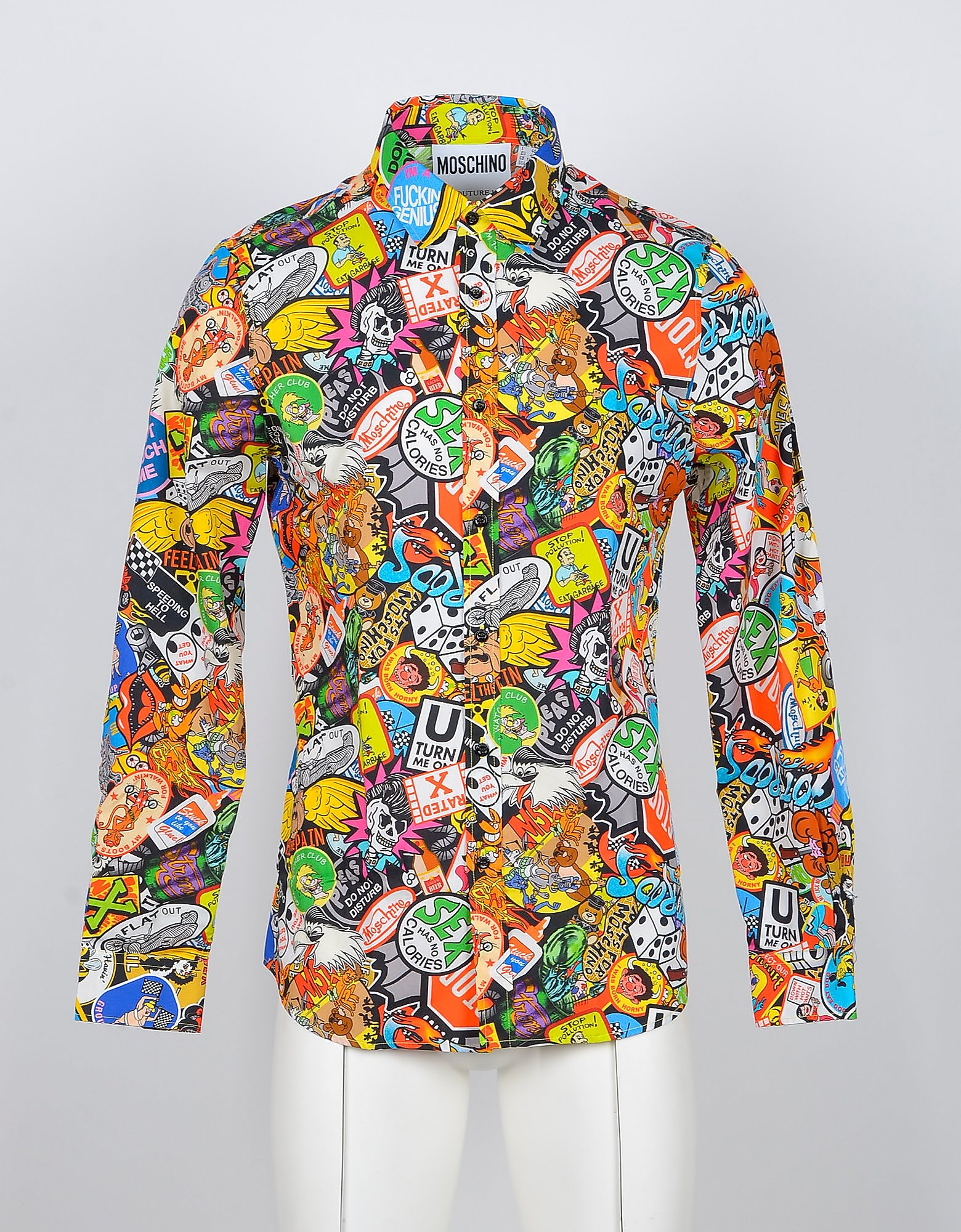 Moschino Designer Shirts, Allover Printed Cotton Men's Shirt