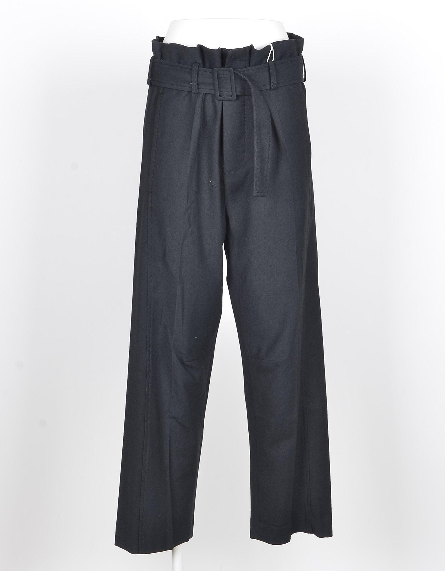MM6 Maison Martin Margiela Designer Pants, Women's Black Pants