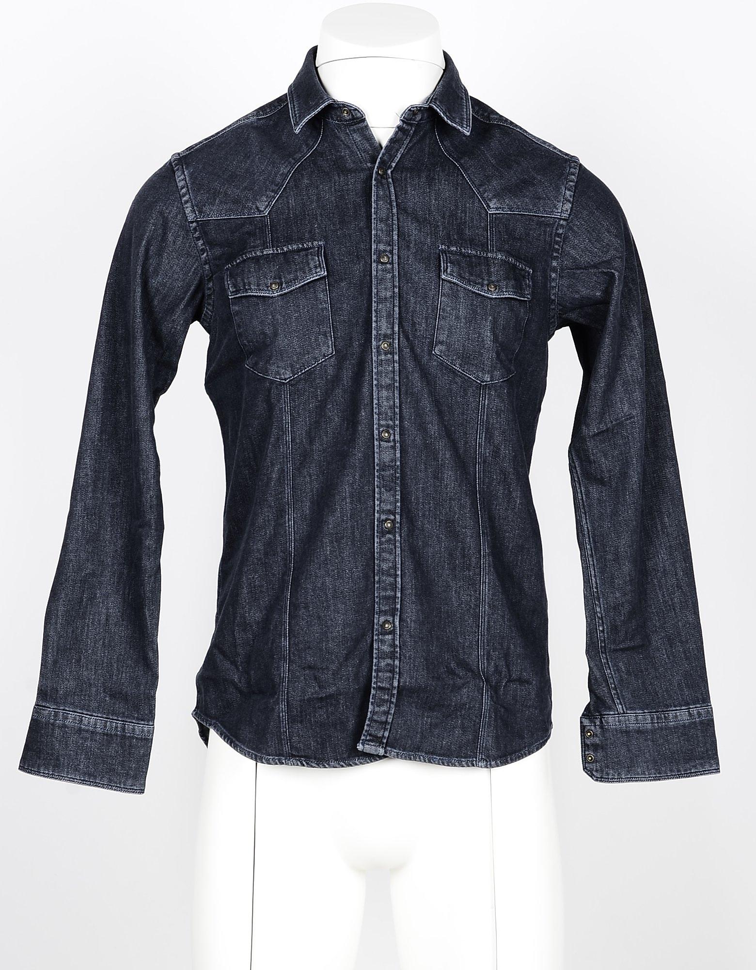Messagerie Designer Shirts, Men's Black Shirt