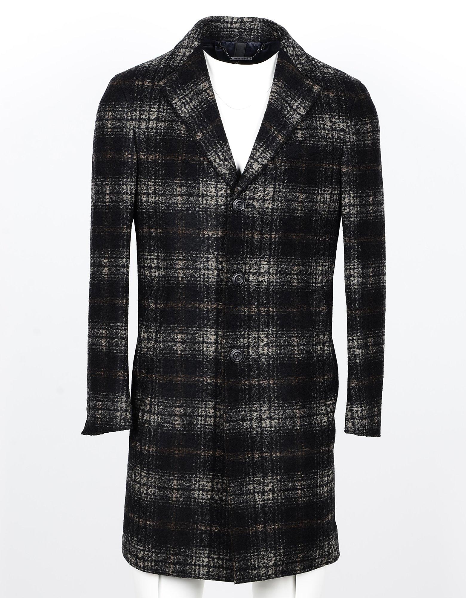 Messagerie Designer Coats & Jackets, Men's Black Coat