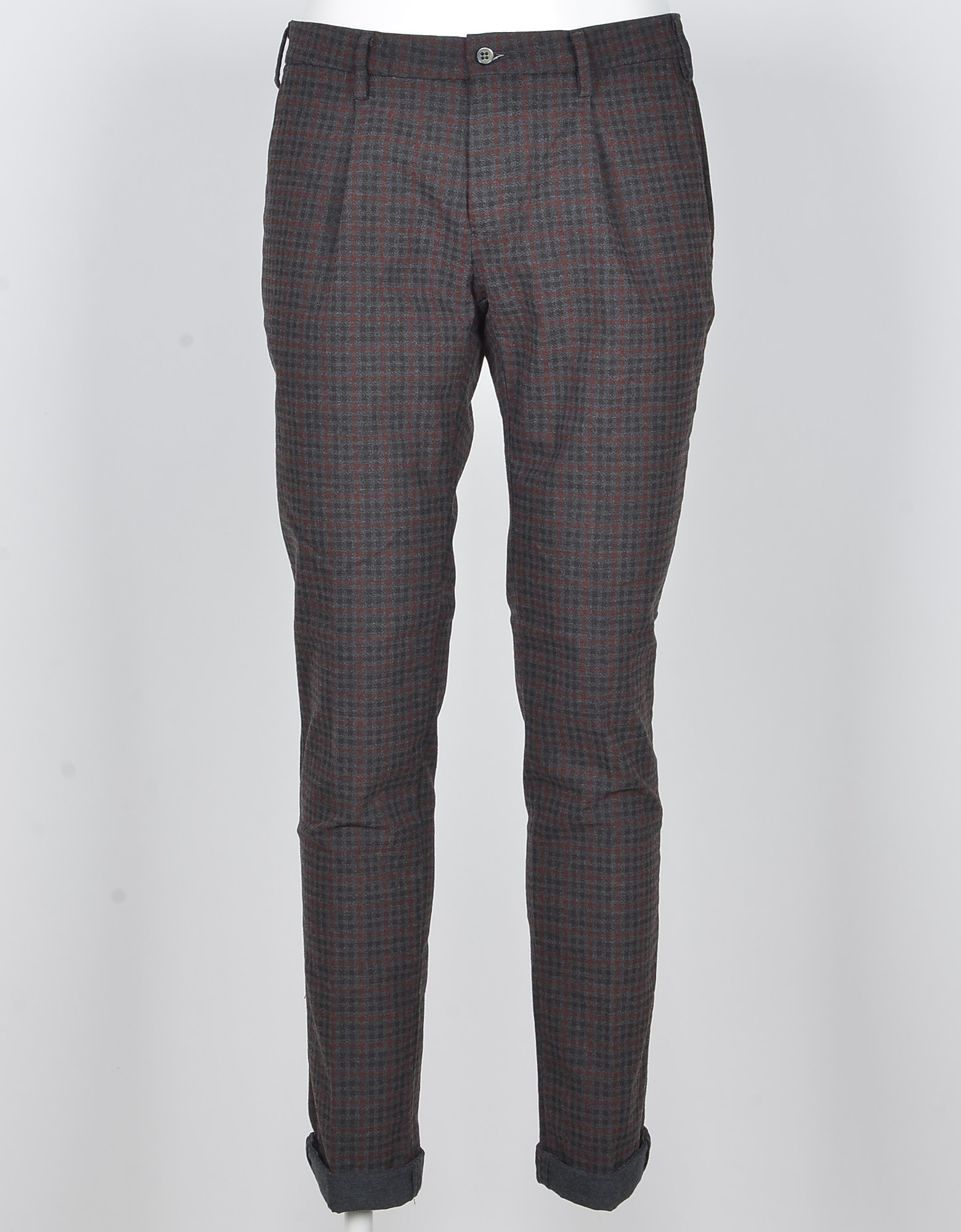 Mason's Designer Pants, Men's Gray / Bordeaux Pants