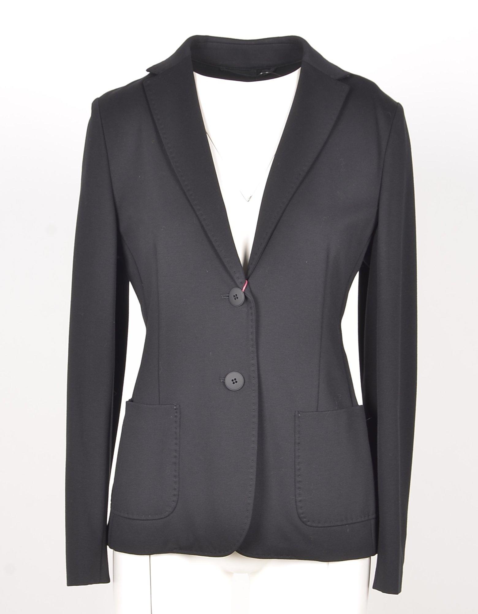 Max Mara Designer Coats & Jackets, Women's Black Blazer
