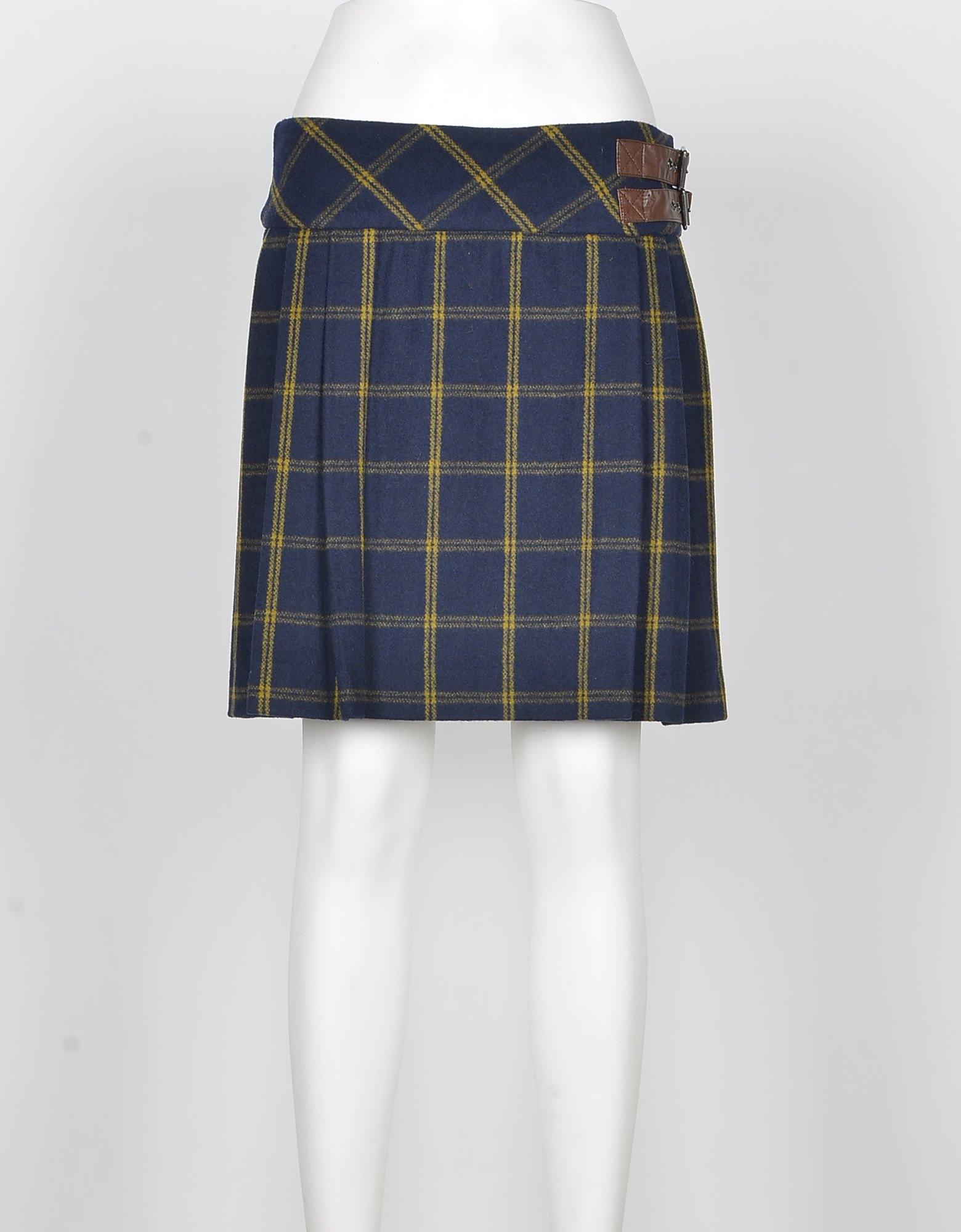 TWIN SET Designer Skirts, Women's Blue Skirt