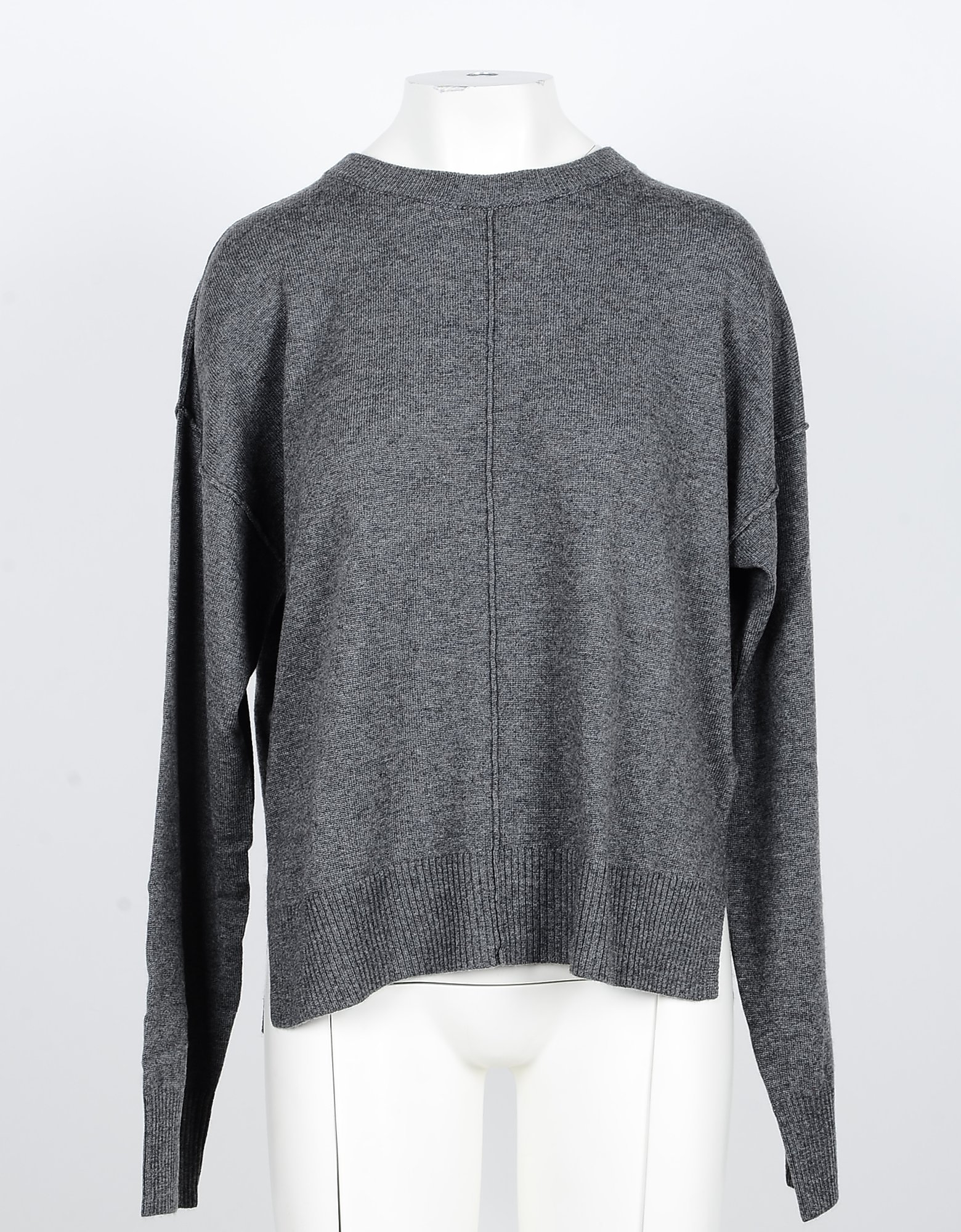 N.O.W. Designer Knitwear, Anthracite Cashmere and Wool Women's Sweater