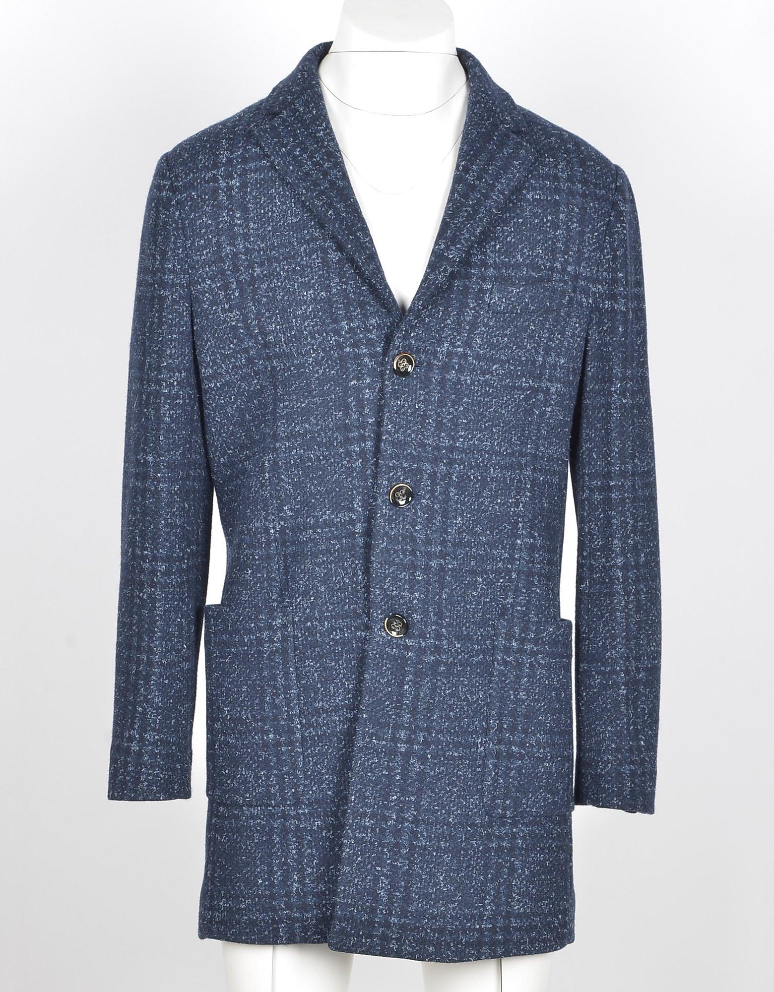 Paolo Pecora Designer Coats & Jackets, Men's Blue Coat