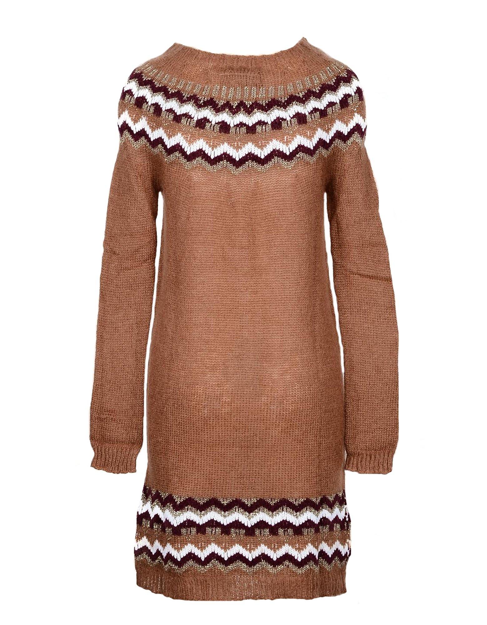 Pink Memories Designer Dresses & Jumpsuits, Brown Cotton and Viscose Women's Dress