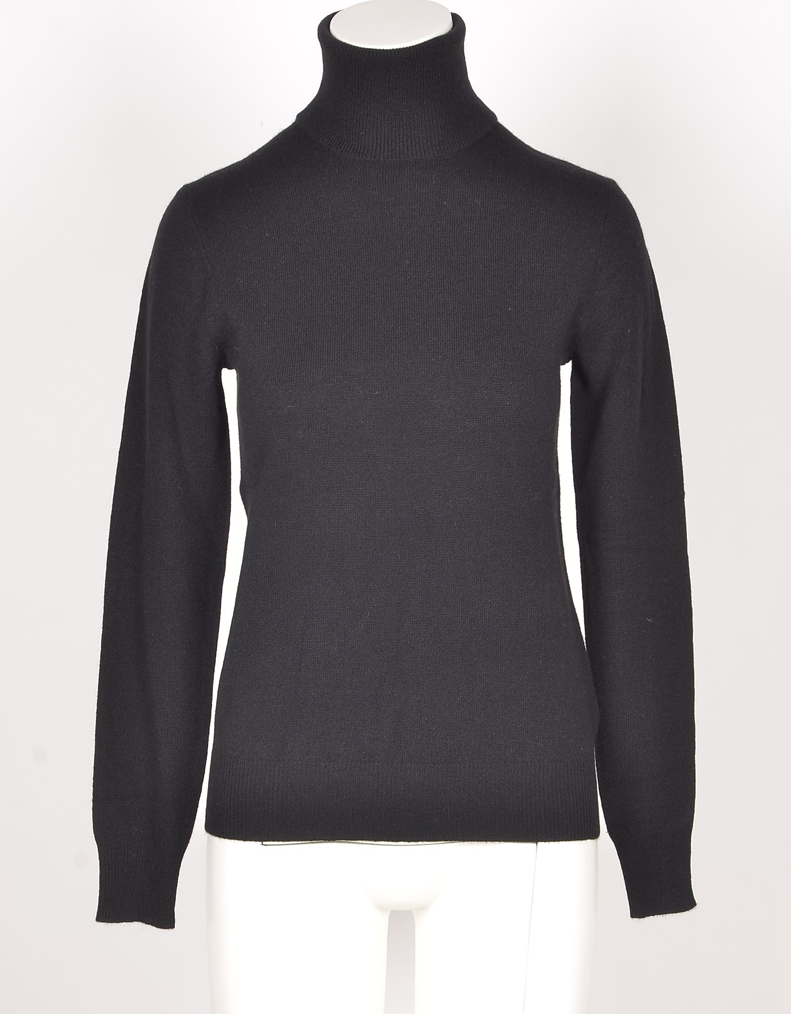 Ralph Lauren Designer Knitwear, Black Cashmere Turtleneck Women's Sweater