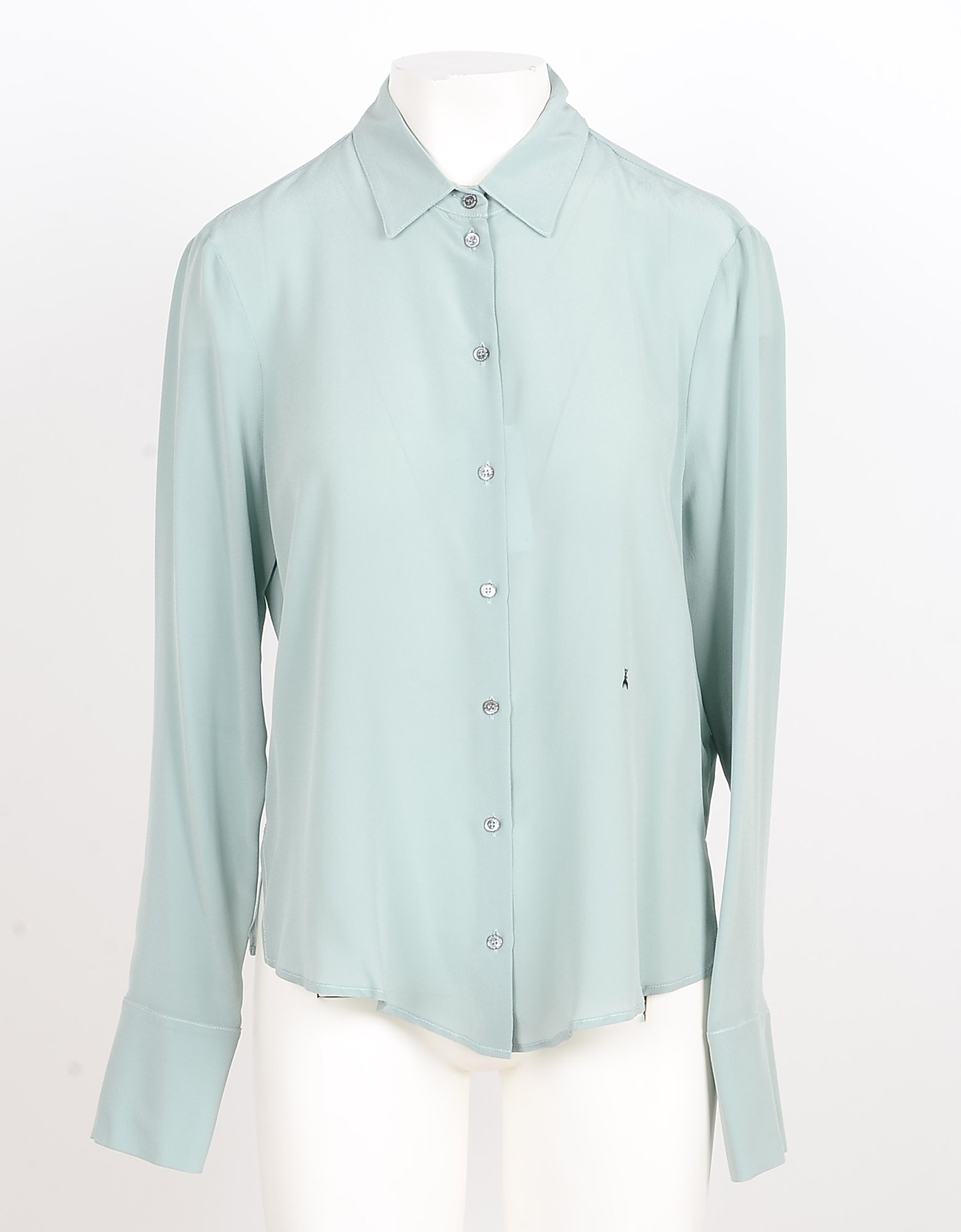 Patrizia Pepe Designer Shirts, Aqua Pure Silk Women's Shirt