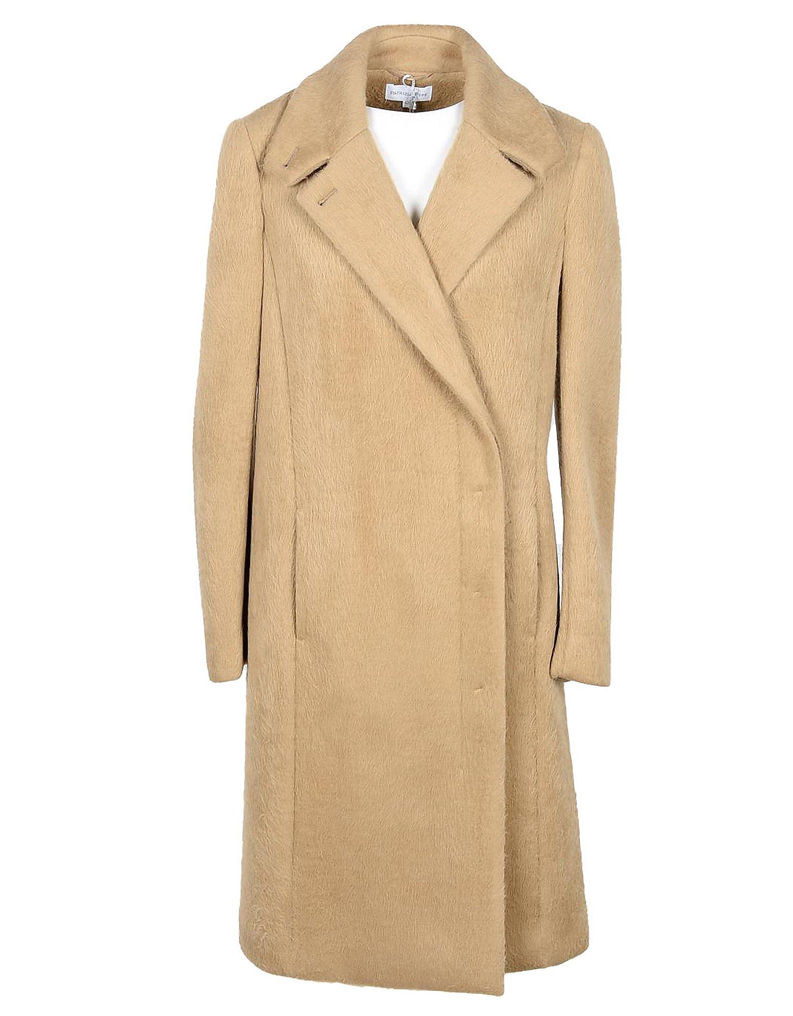 Patrizia Pepe Designer Coats & Jackets, Women's Beige Coat