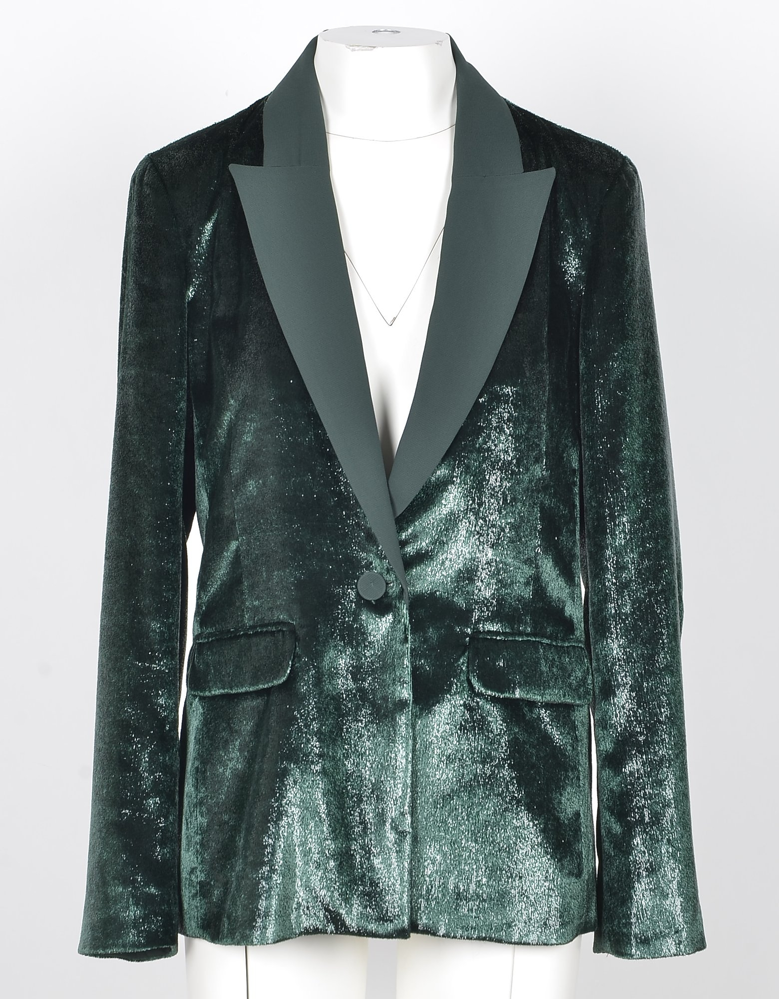 Patrizia Pepe Designer Coats & Jackets, Women's Green Blazer