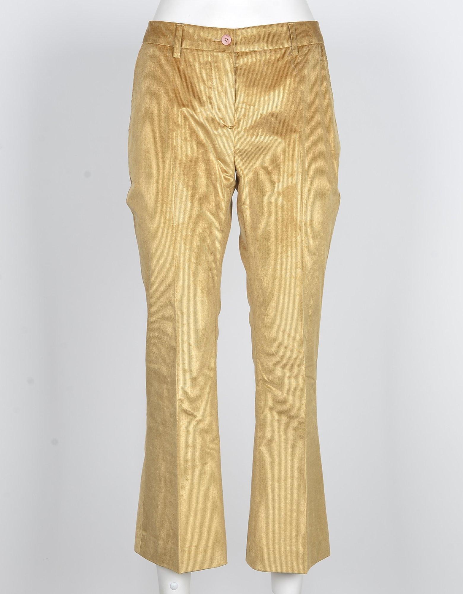 PT01 Designer Pants, Women's Beige Pants