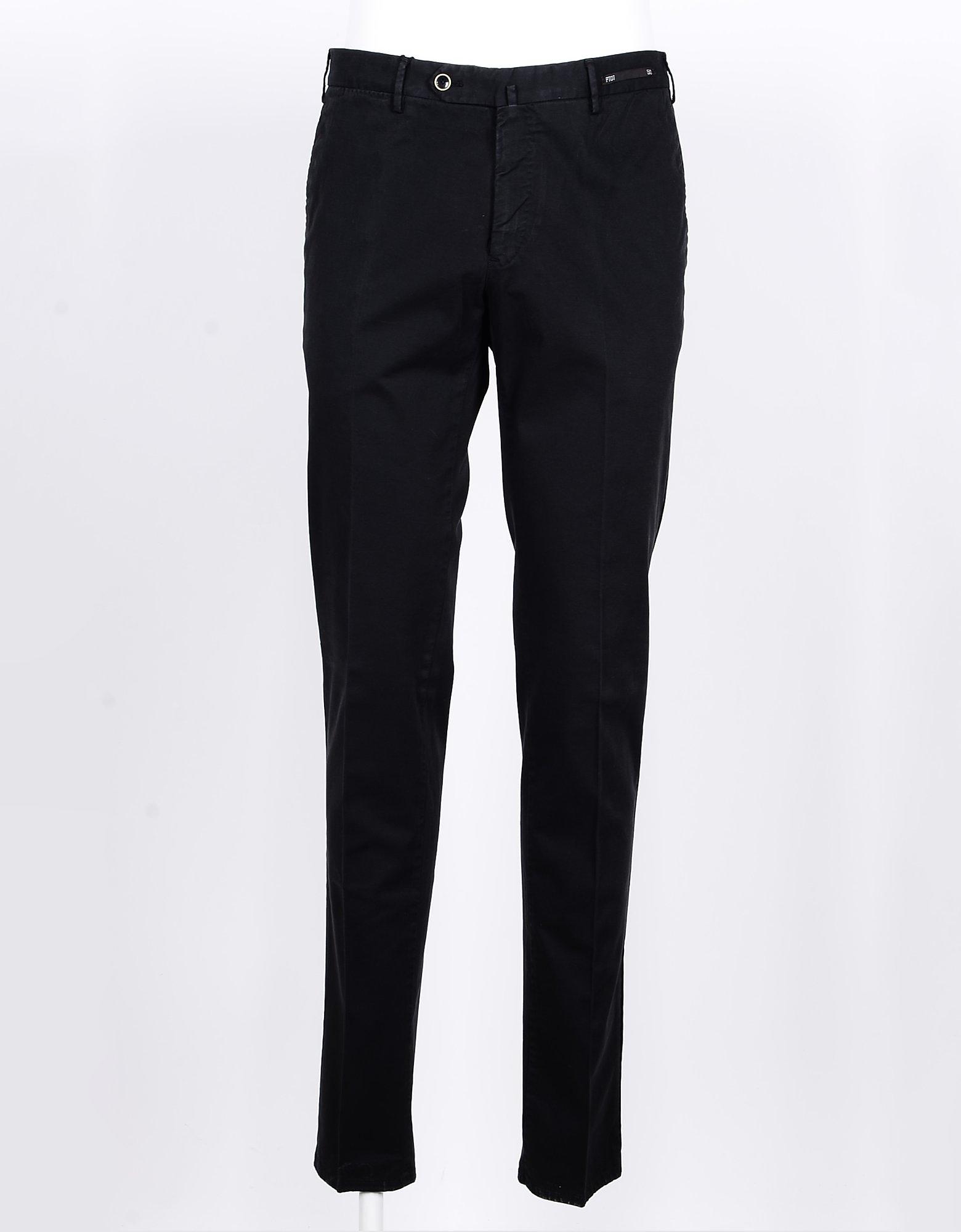 PT01 Designer Pants, Men's Black Pants