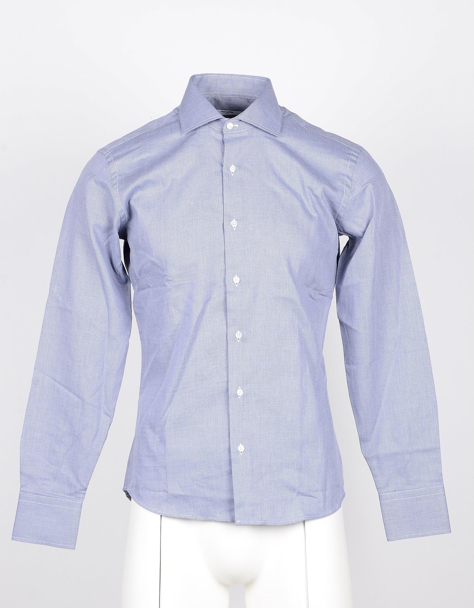 Takeshy Kurosawa Designer Shirts, Gray Cotton Men's Shirt