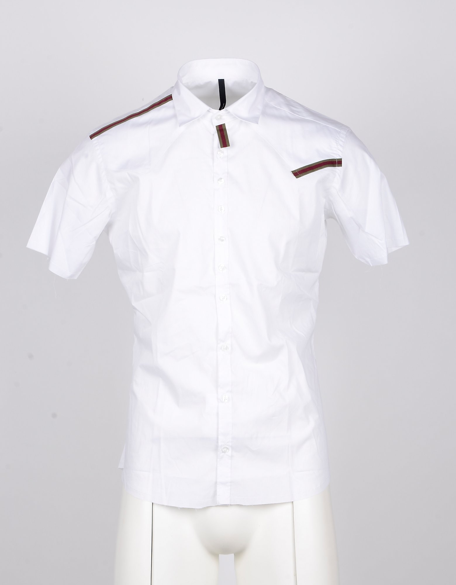 Takeshy Kurosawa Designer Shirts, Short-Sleeved White Men's Shirt