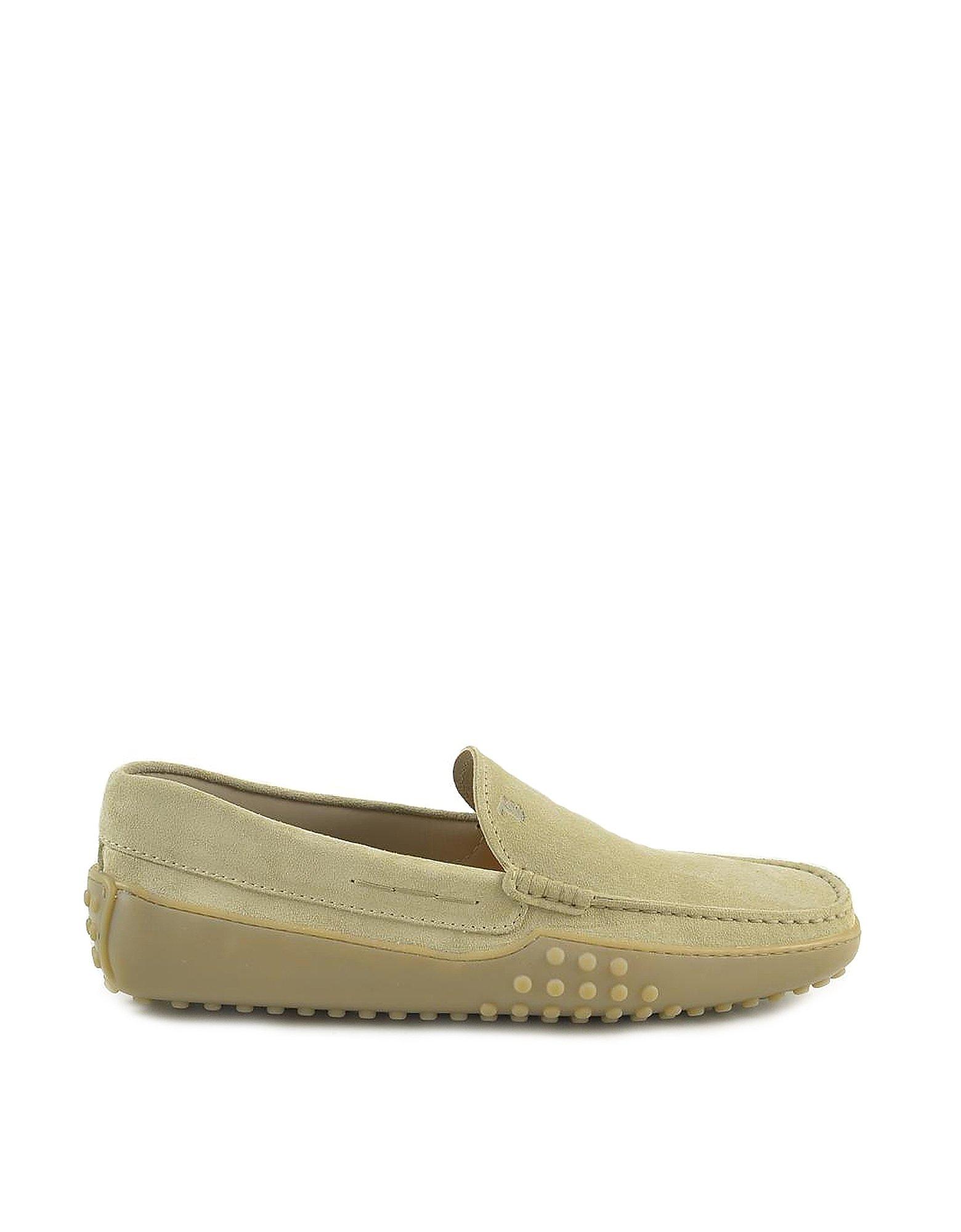 Tod's Designer Shoes, Men's Beige Loafer Shoes