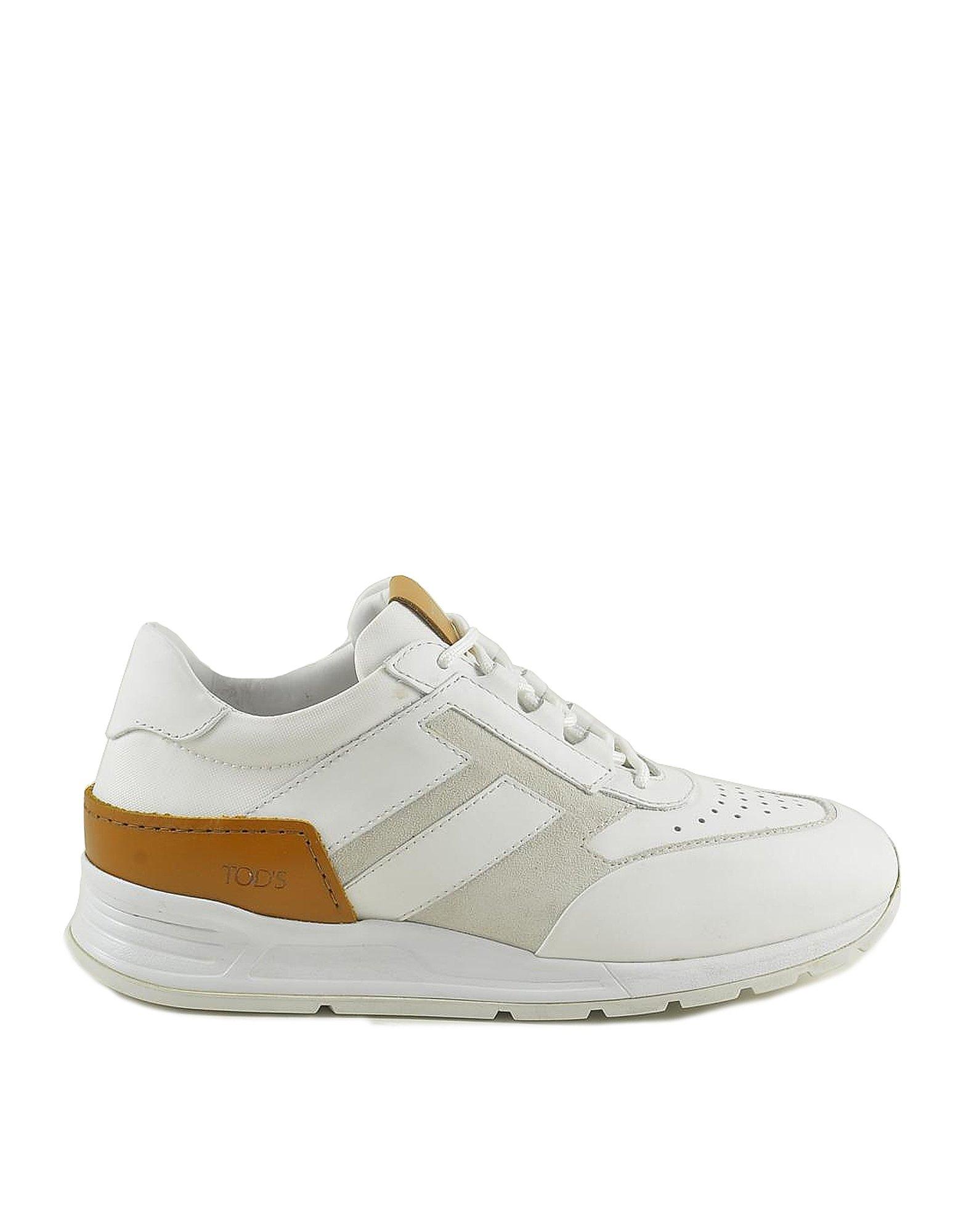 Tod's Designer Shoes, Men's White Sneakers