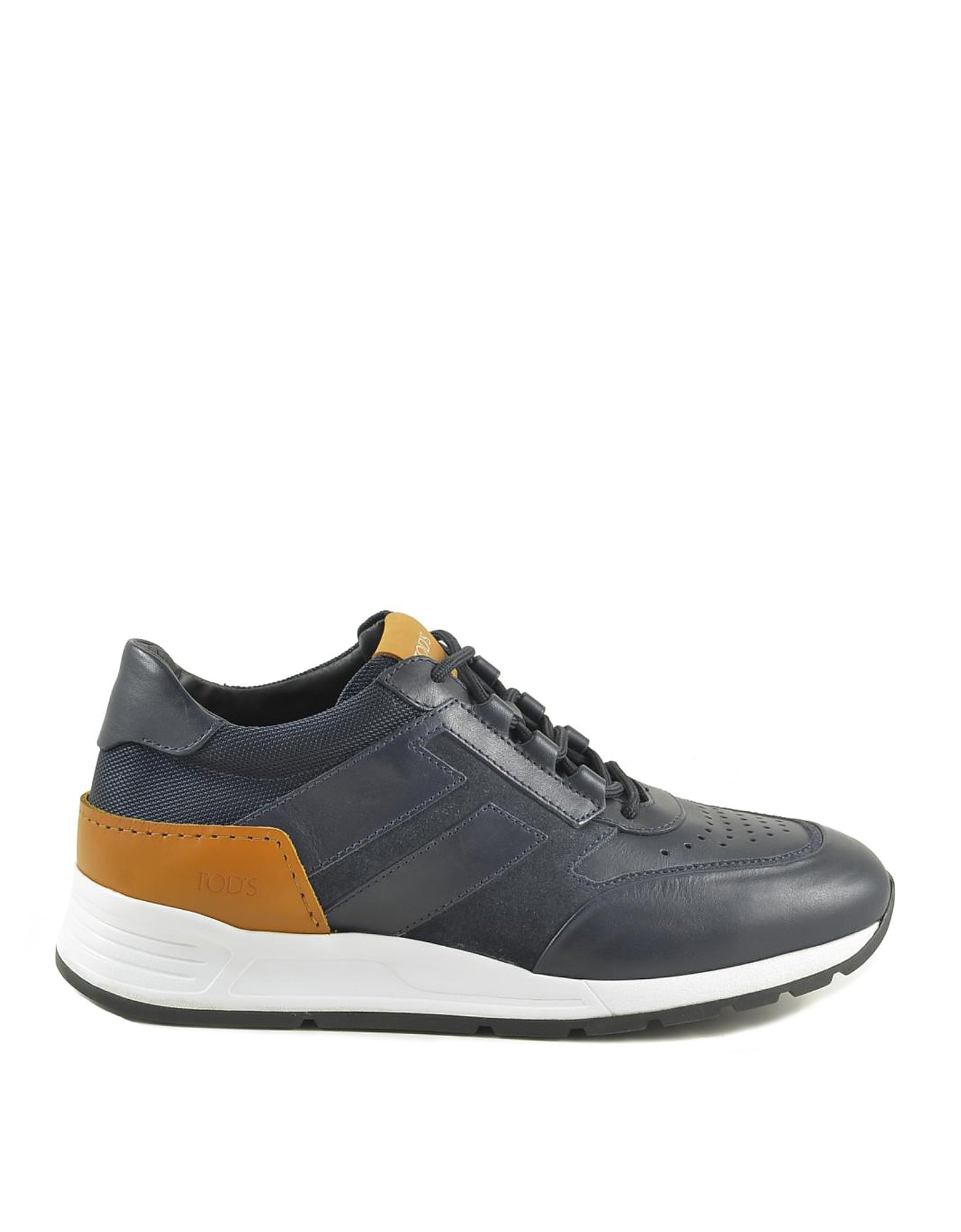 Tod's Designer Shoes, Men's Blue Sneakers