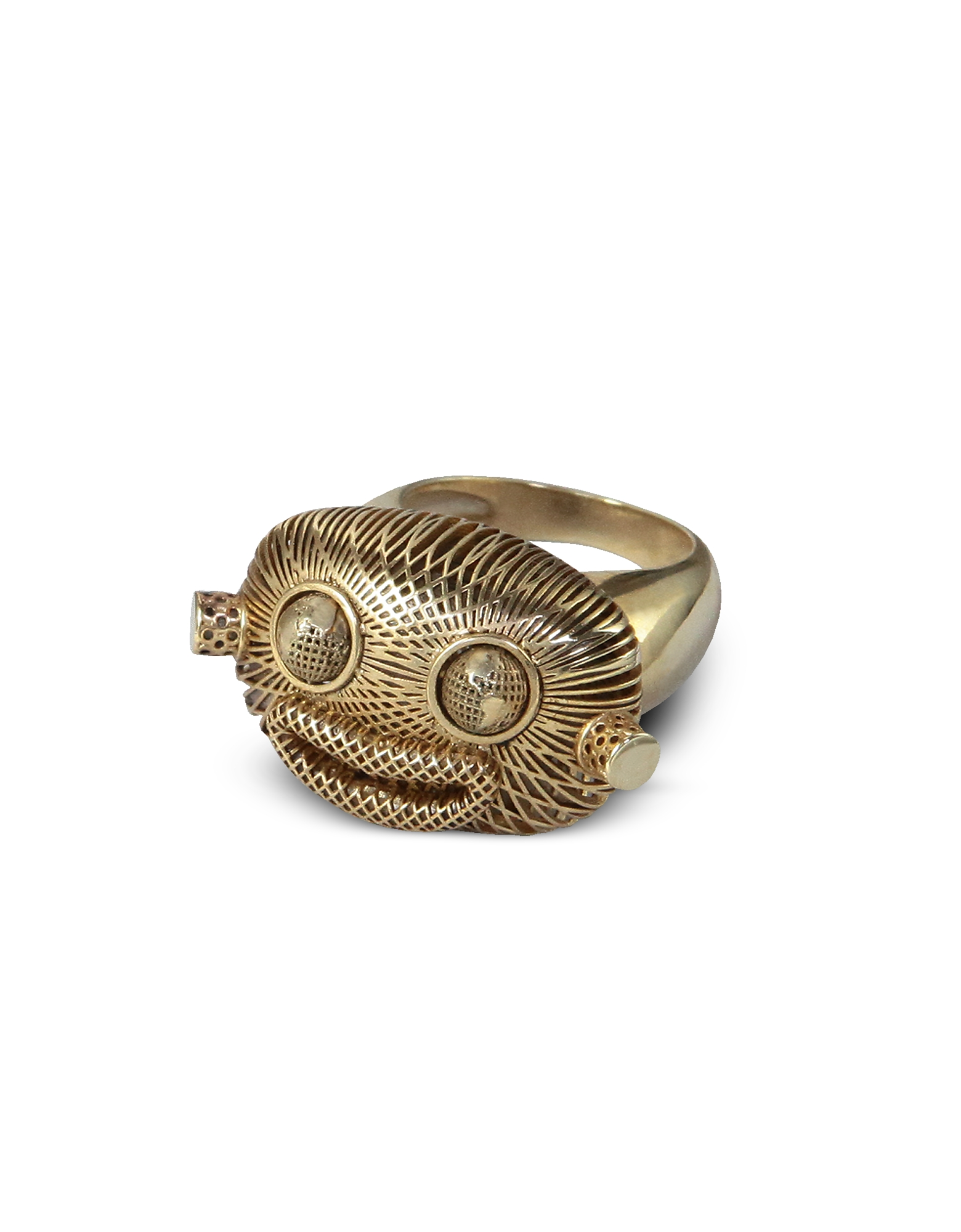 Anello in Bronzo Placcato Oro Mr. Wildworld