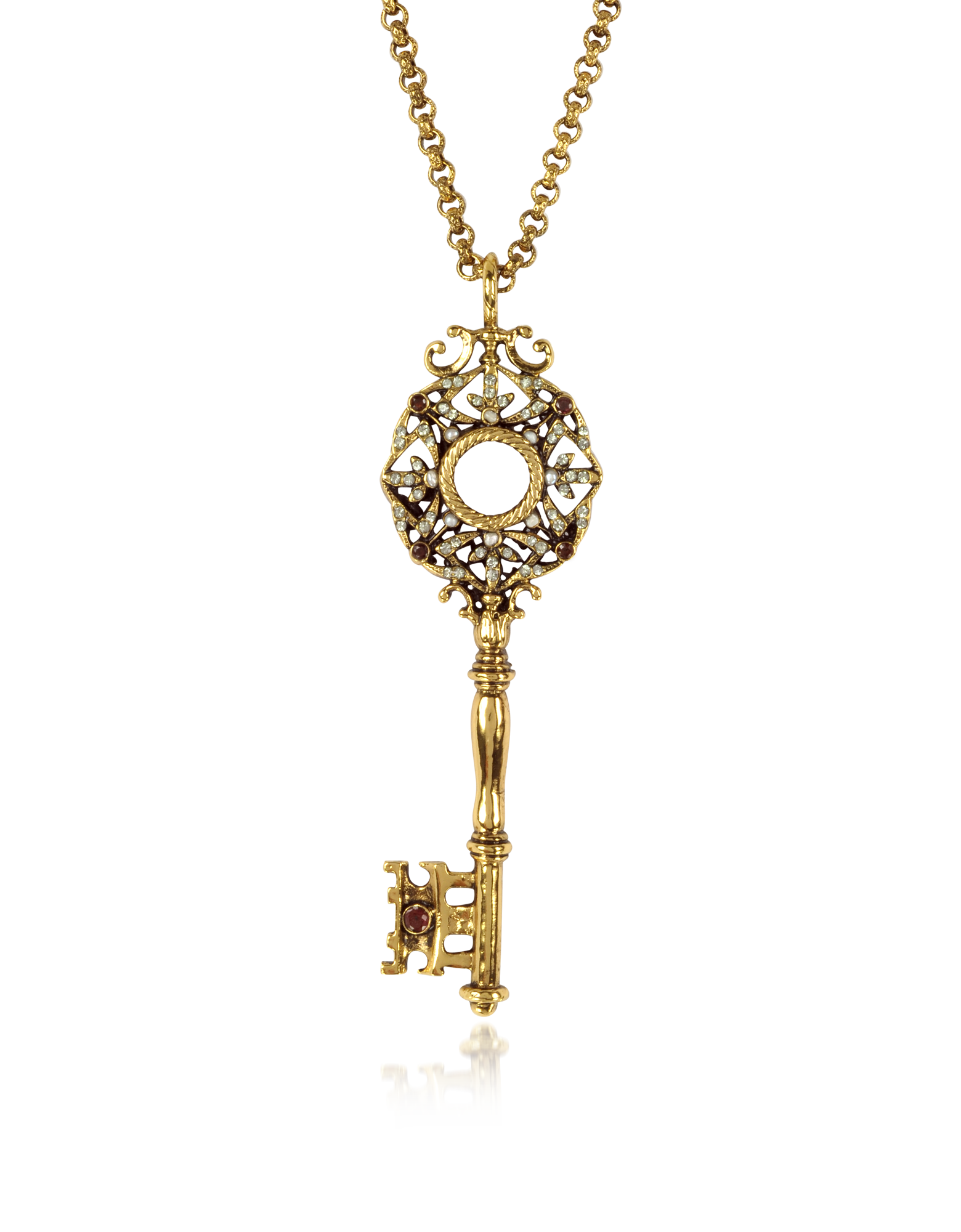 Image of Brass Key Long Necklace