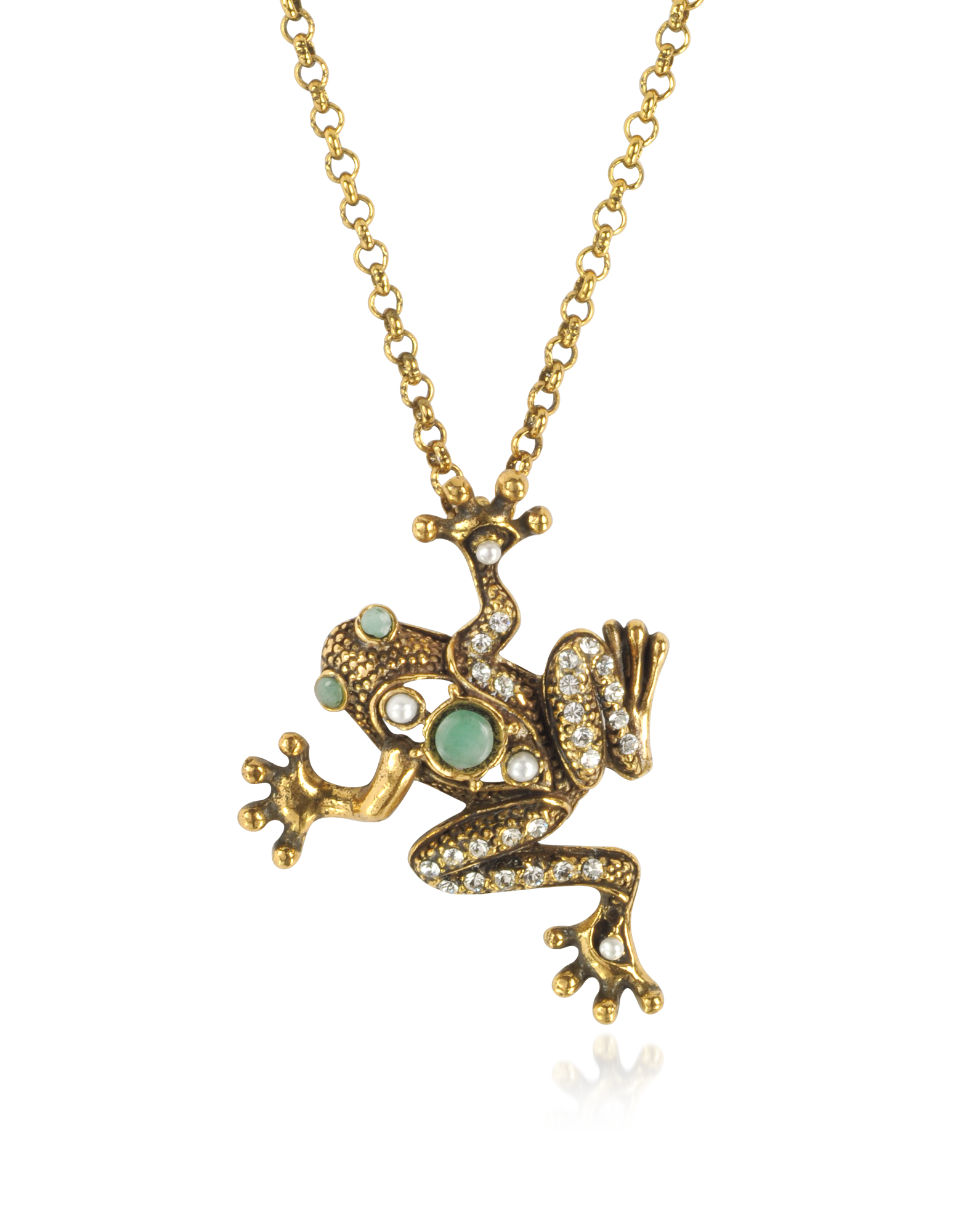 Image of Brass Frog Necklace