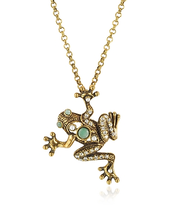 Brass Frog Necklace