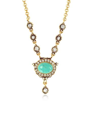 Blue Sky Brass Necklace