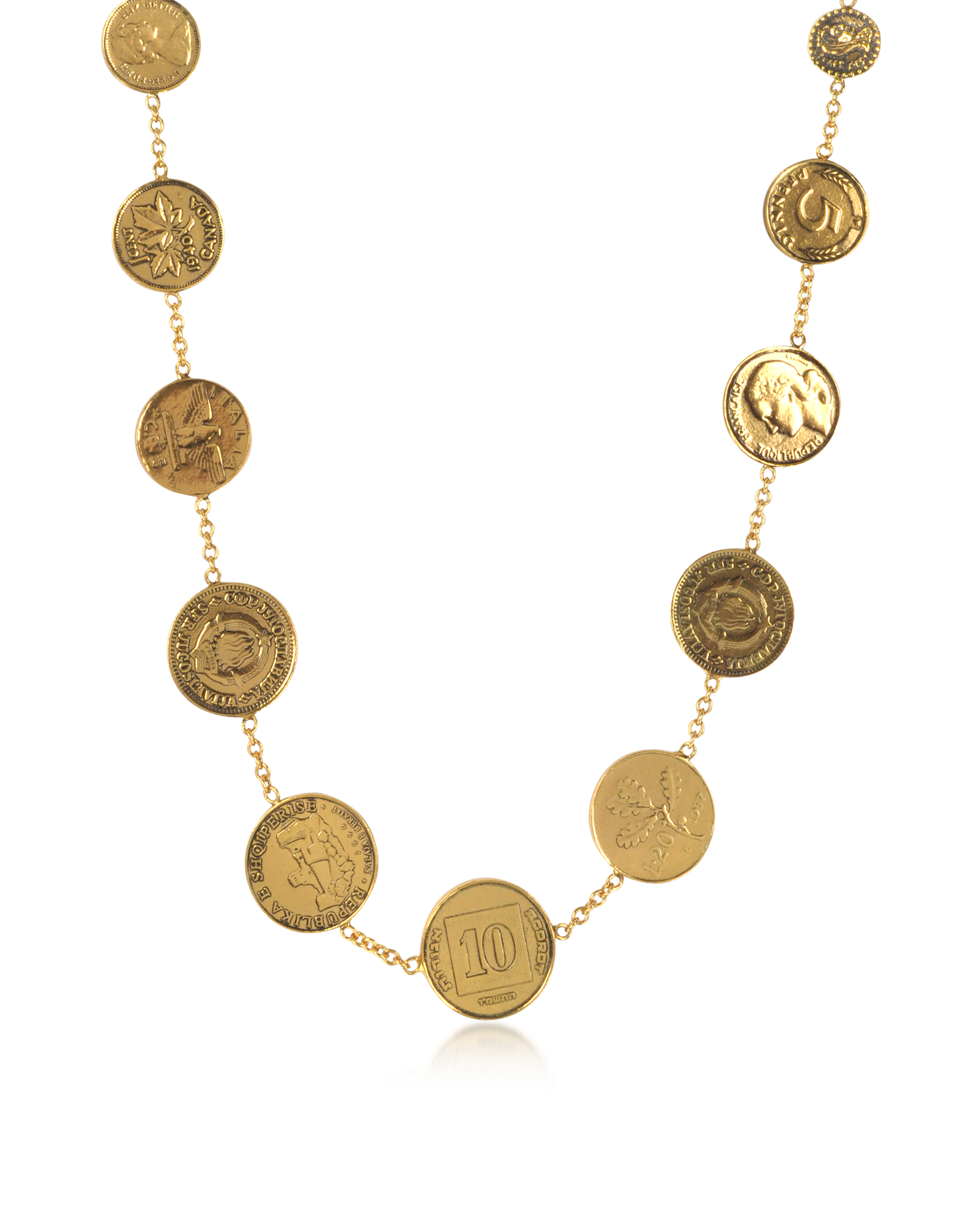 Image of Brass Coin Necklace