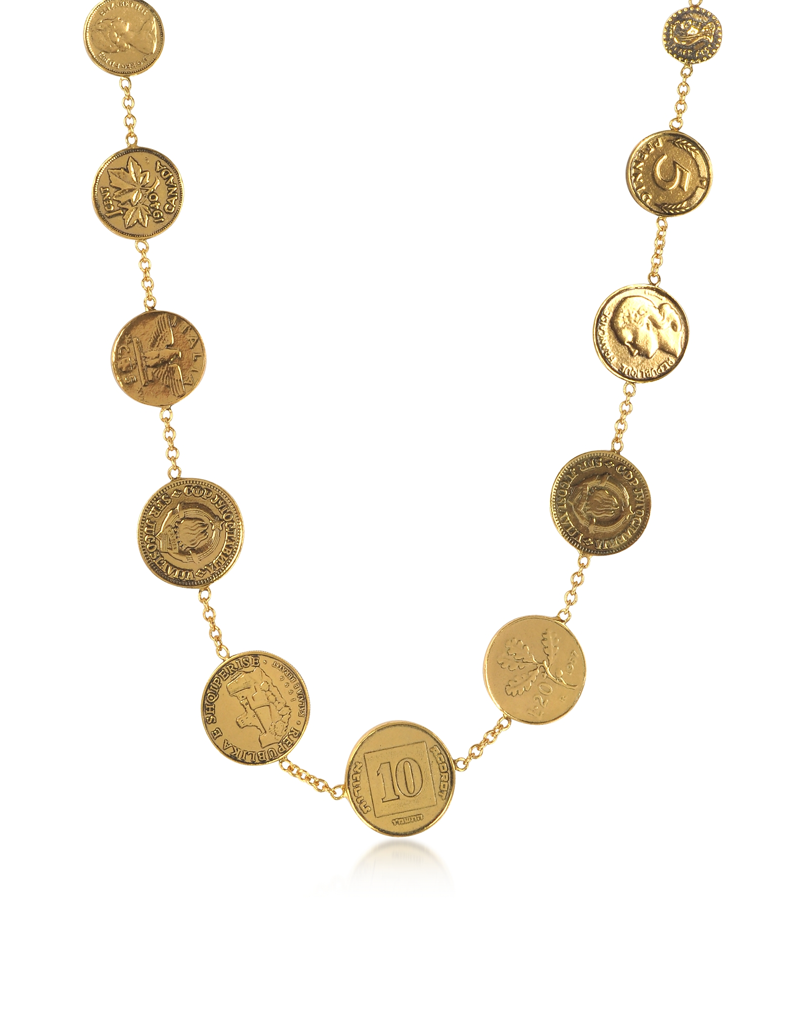 Alcozer & J Necklaces, Brass Coin Necklace