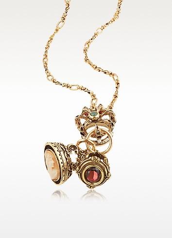 Crown Jewel Pendant Necklace - Alcozer & J