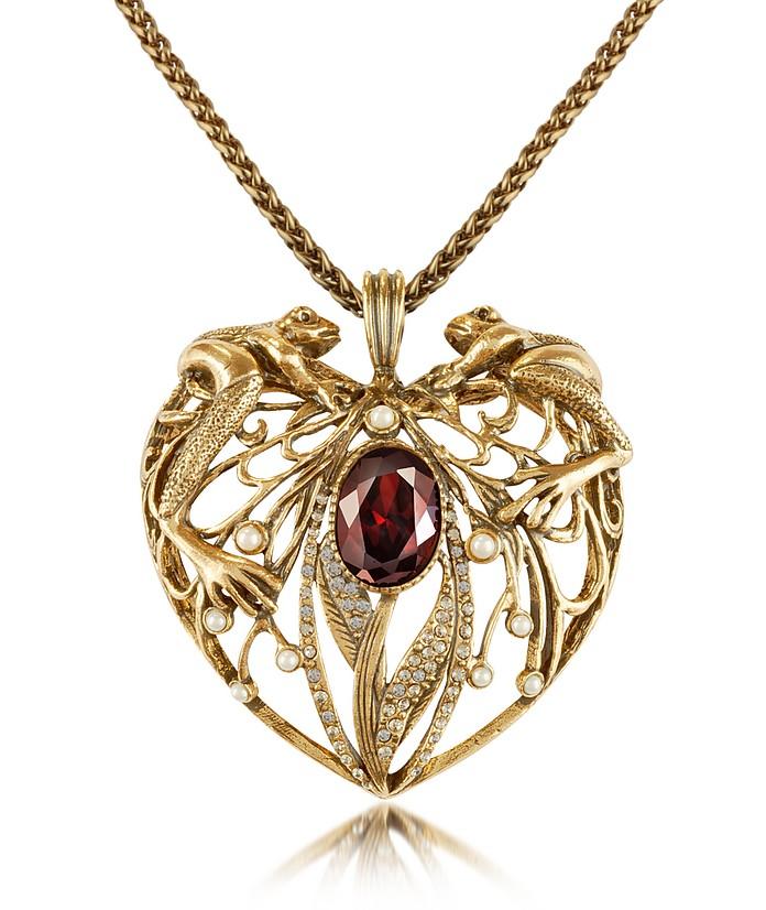 Frog & Heart Pendant Necklace - Alcozer & J