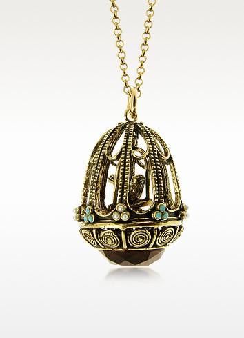 Bird Cage Pendant Necklace - Alcozer & J