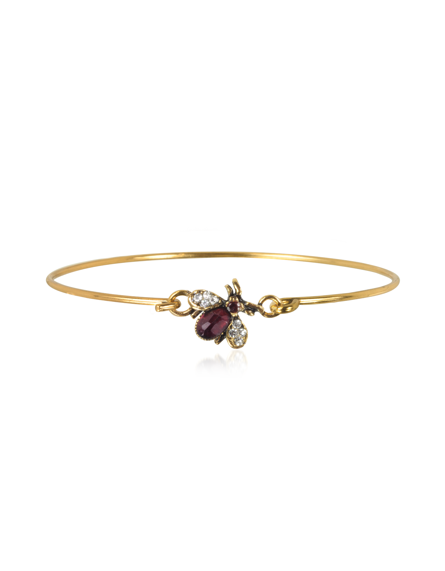 Image of Brass and Crystals Moschina Bangle