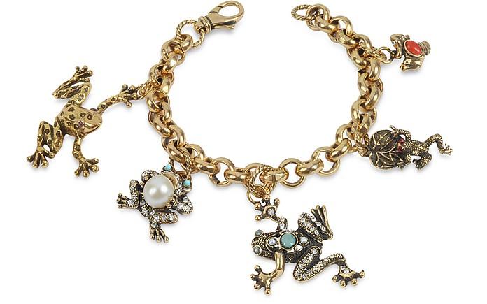 Frog - Charm Brass Bracelet - Alcozer & J