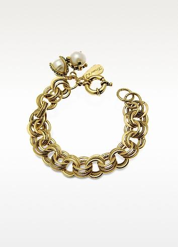 Brass & Glass Pearls Bracelet - Alcozer & J