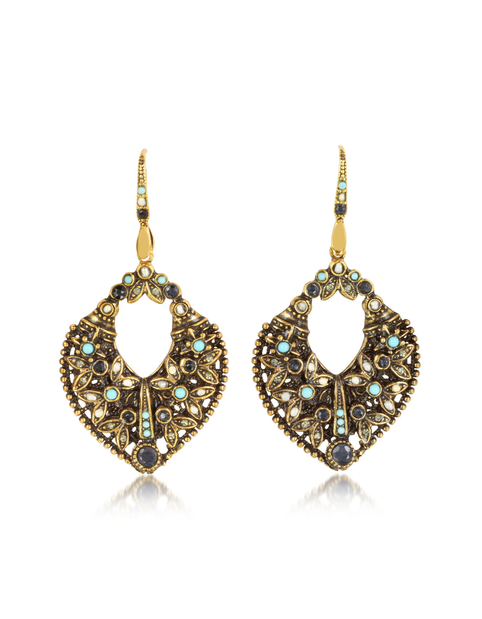 Image of Arabesque Earrings w/Crystals
