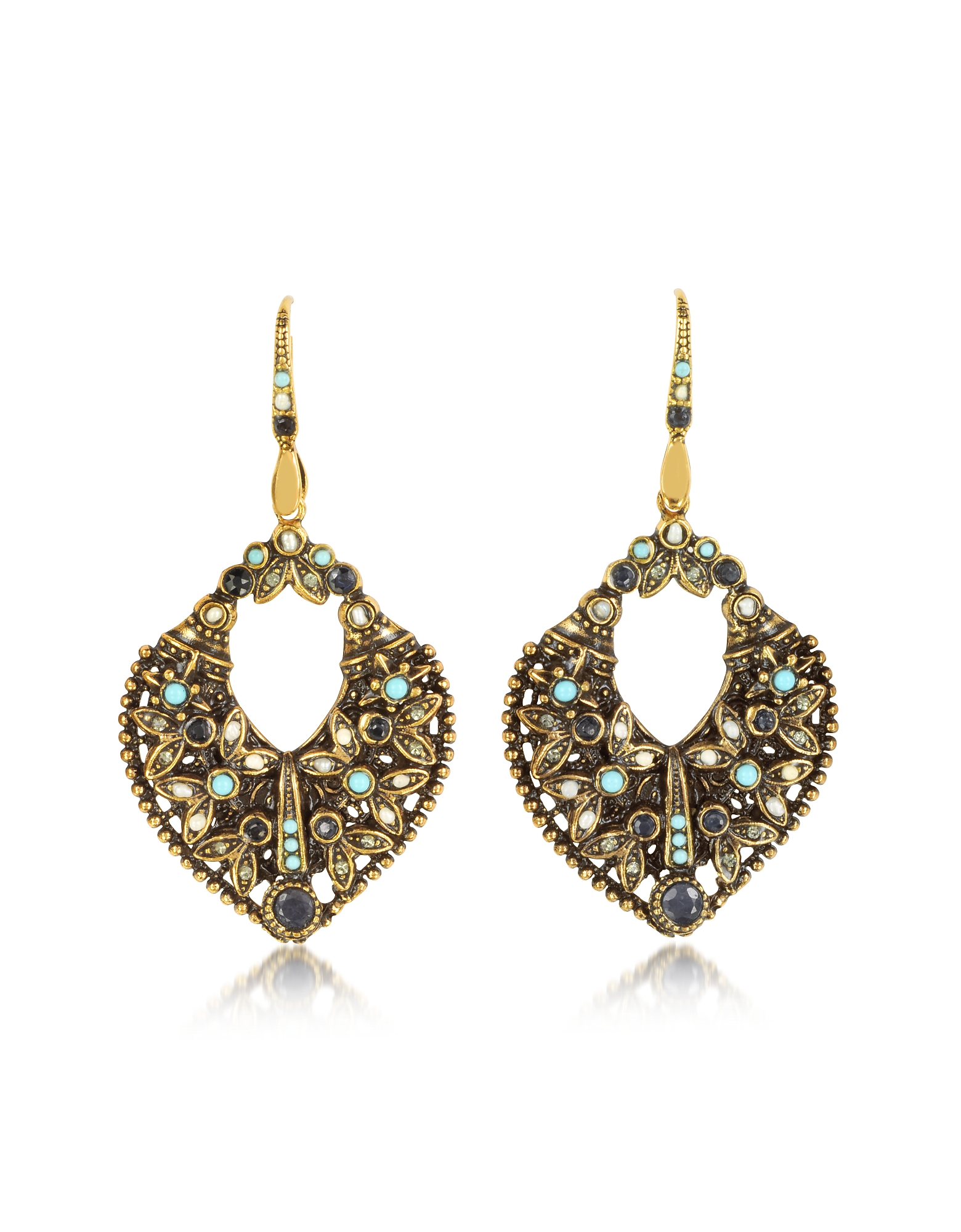 Arabesque Earrings w/Crystals